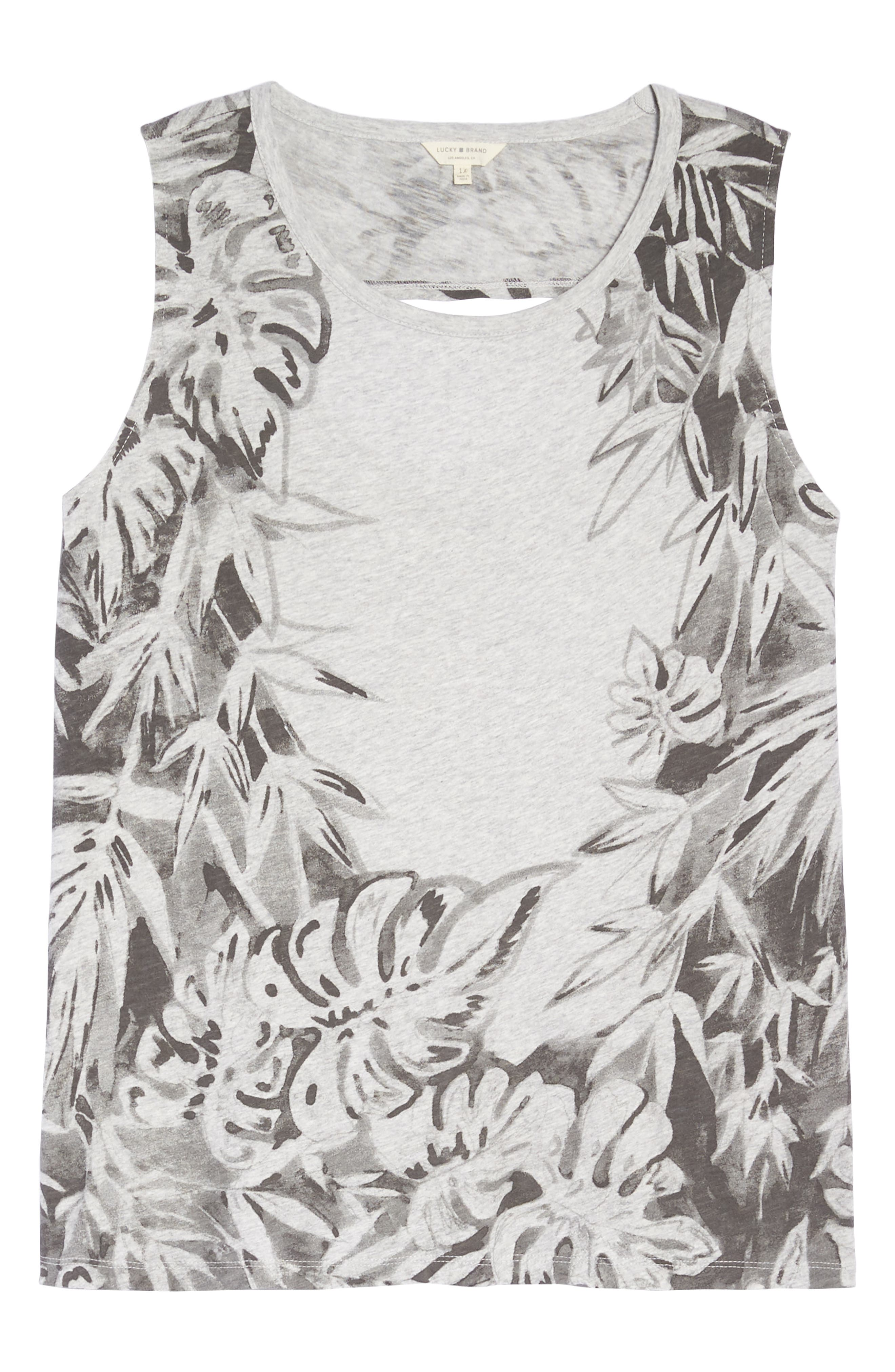 Print Floral Tank,                             Alternate thumbnail 7, color,                             060