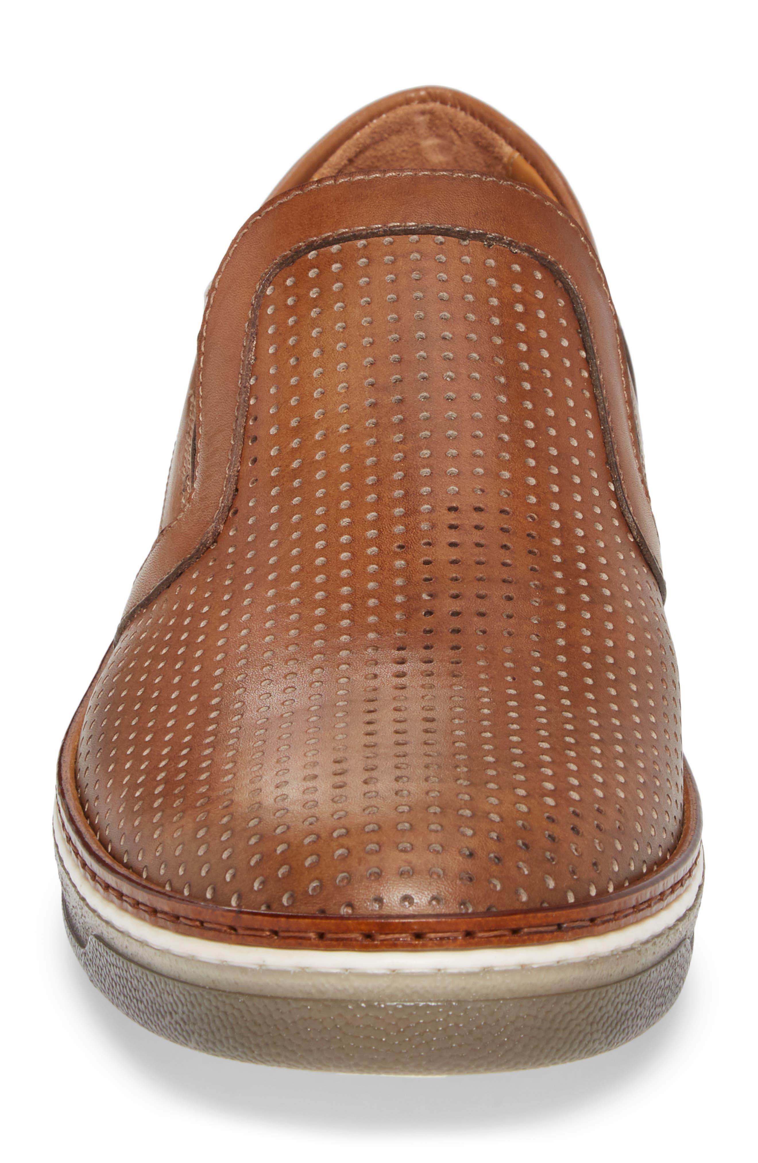 Josh Weatherproof Slip-On Sneaker,                             Alternate thumbnail 4, color,                             COGNAC