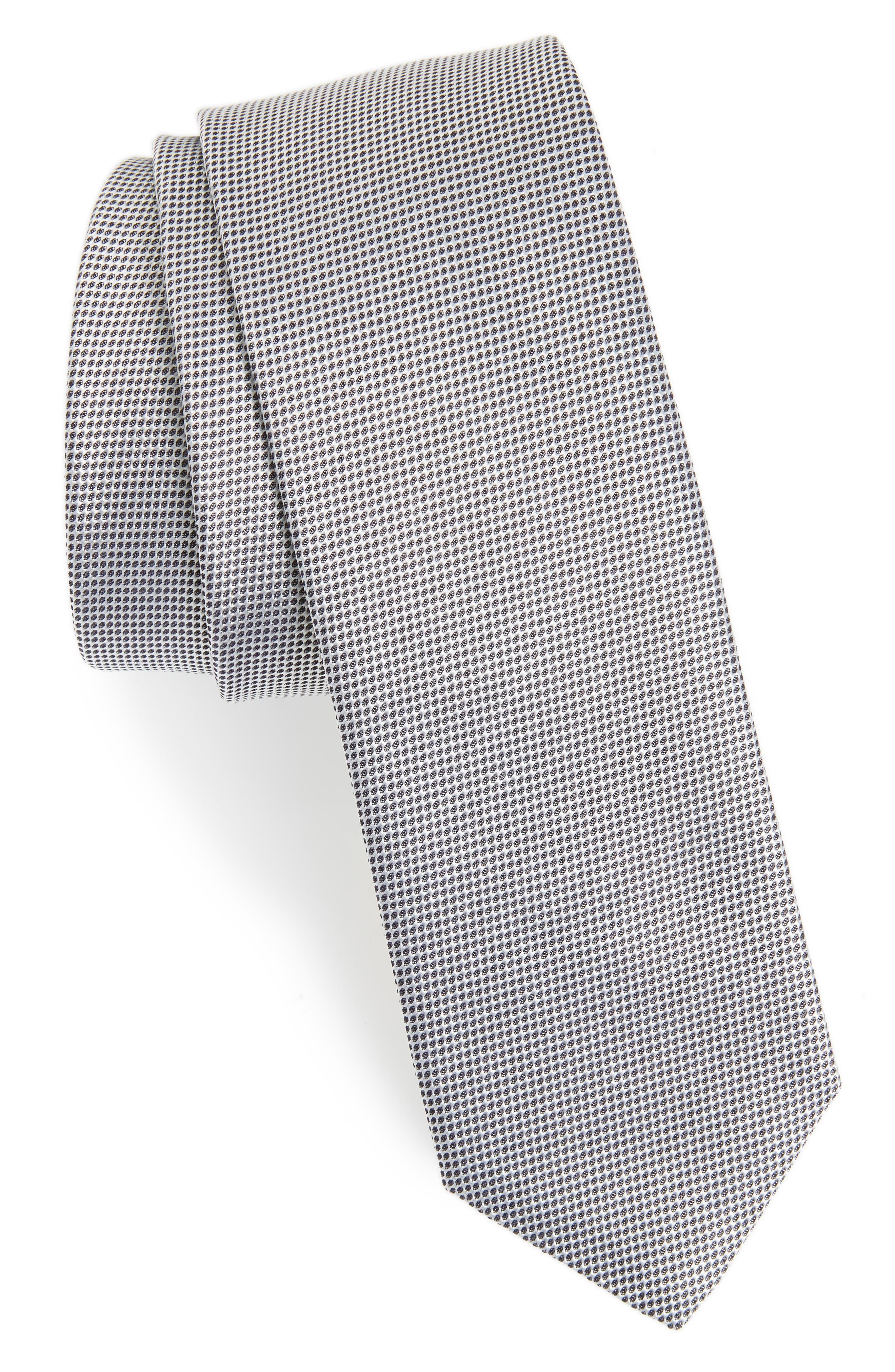 Solid Silk Tie,                             Main thumbnail 1, color,                             GREY