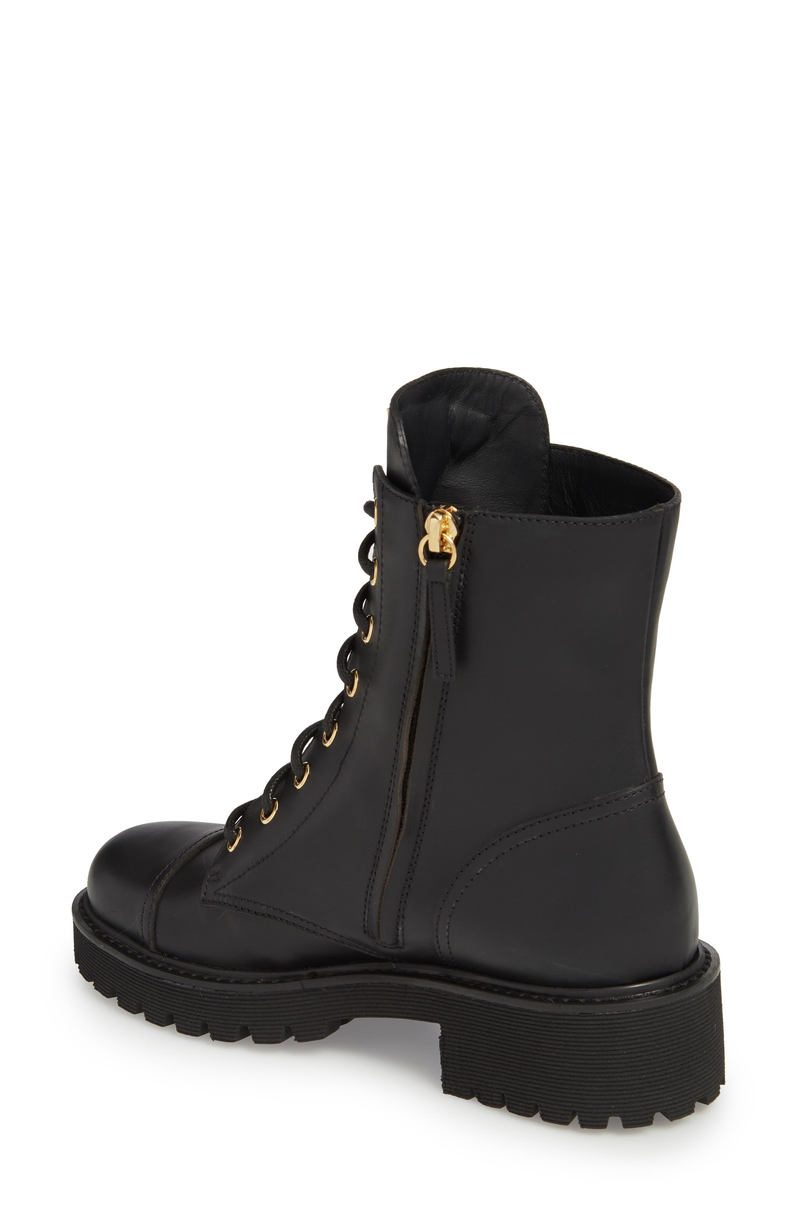Combat Boot,                             Alternate thumbnail 2, color,                             BLACK
