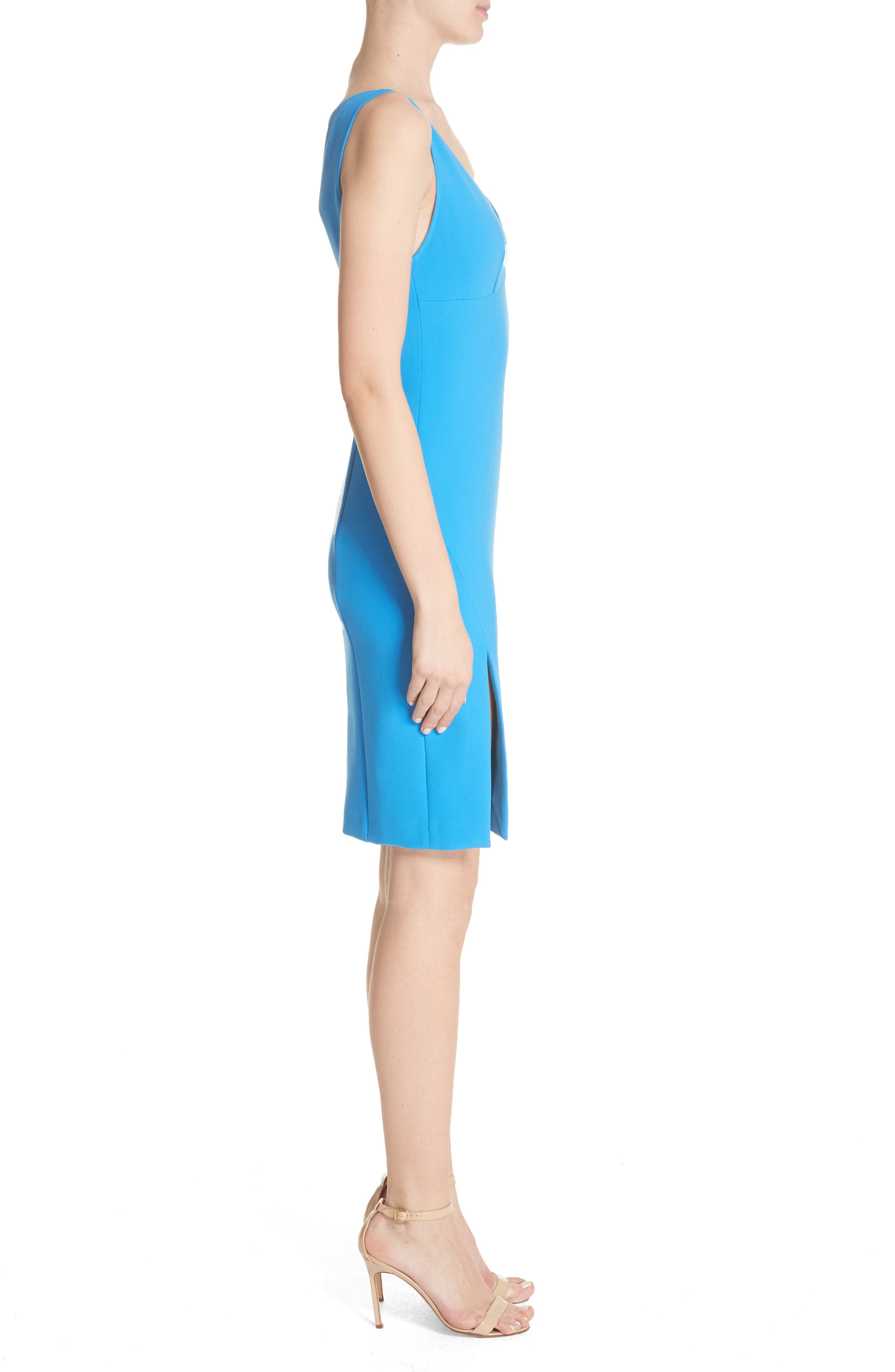 Stretch Cady Sheath Dress,                             Alternate thumbnail 3, color,                             405