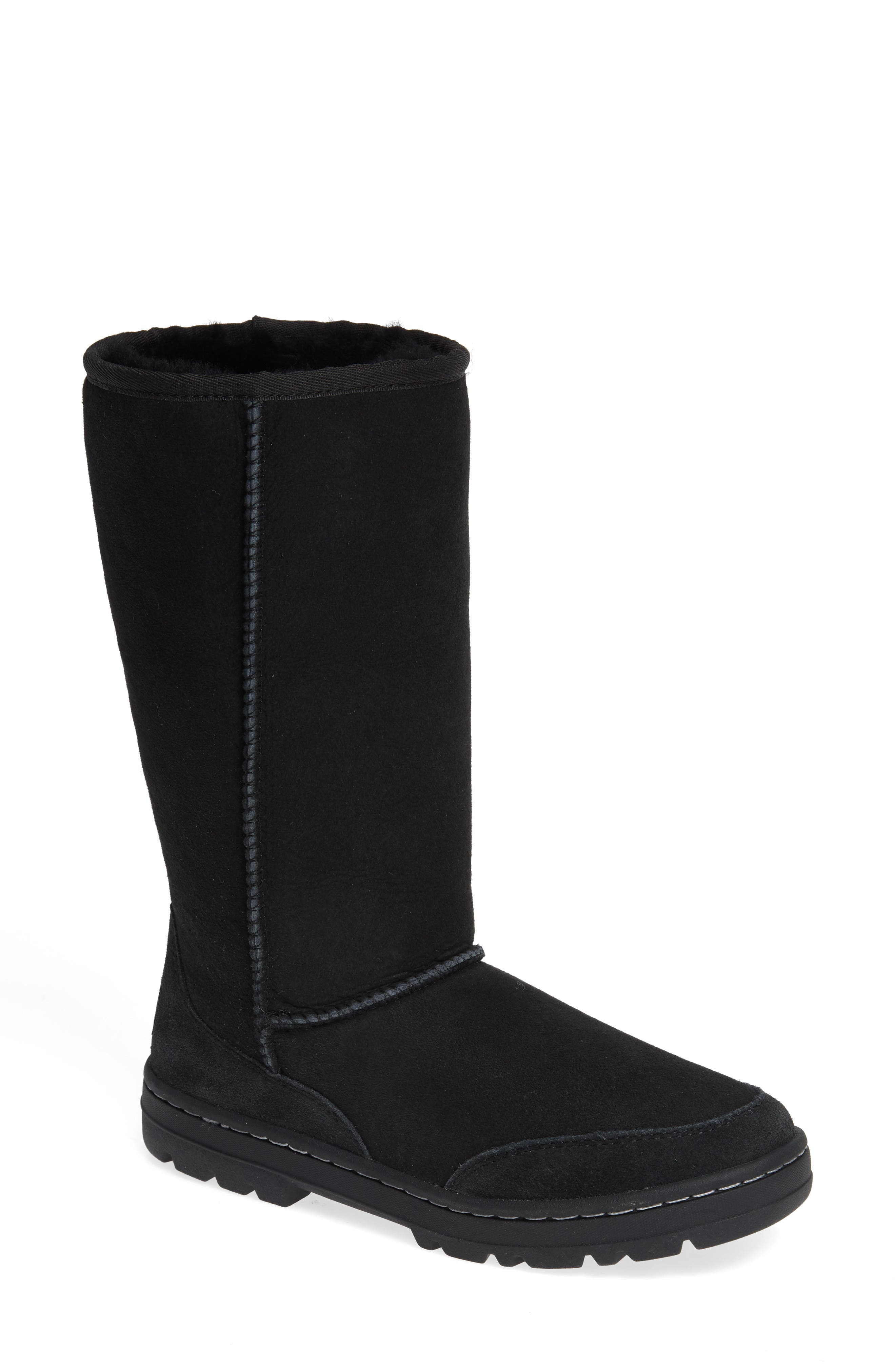 Ugg Ultra Revival Genuine Shearling Tall Boot in Black