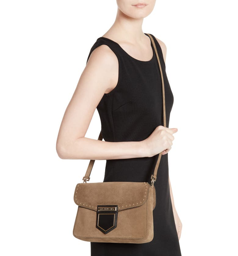 6eafc9c6a4 Givenchy Small Nobile Leather Crossbody Bag