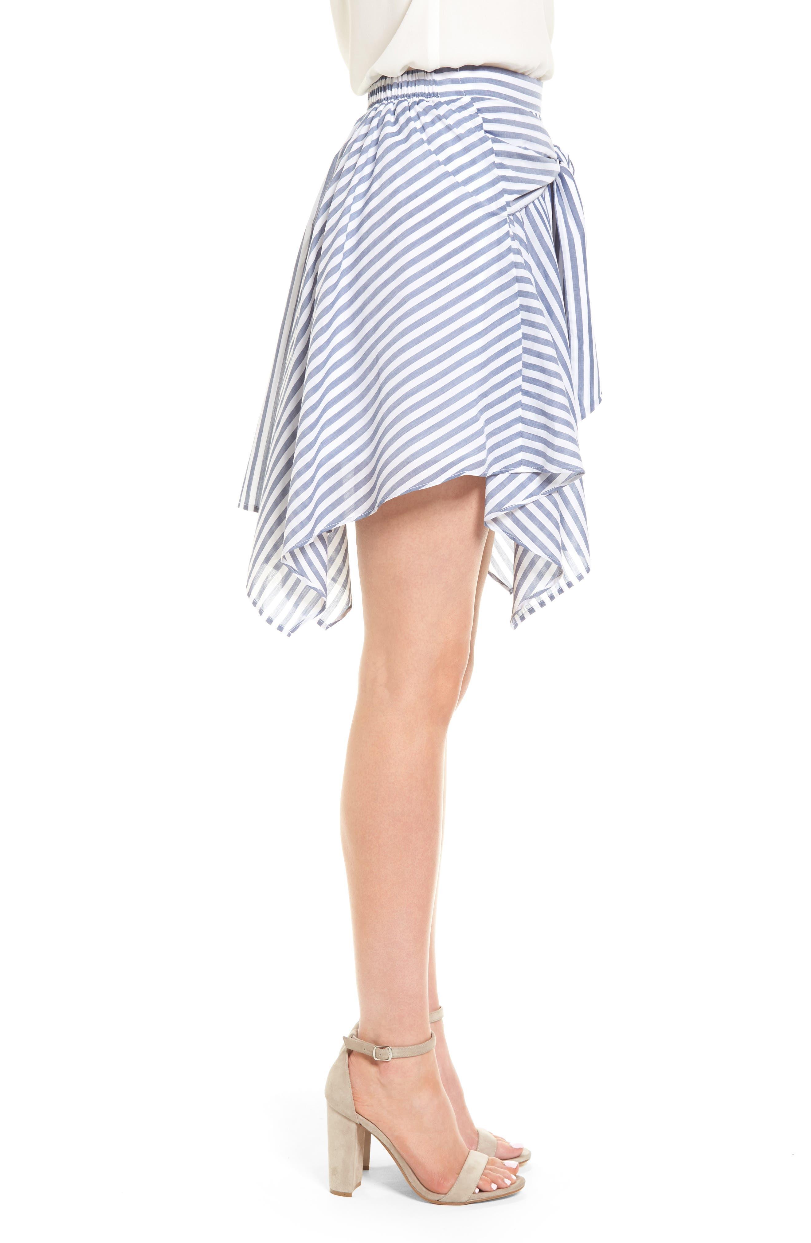BP.,                             Tie Waist Handkerchief Hem Skirt,                             Alternate thumbnail 3, color,                             410
