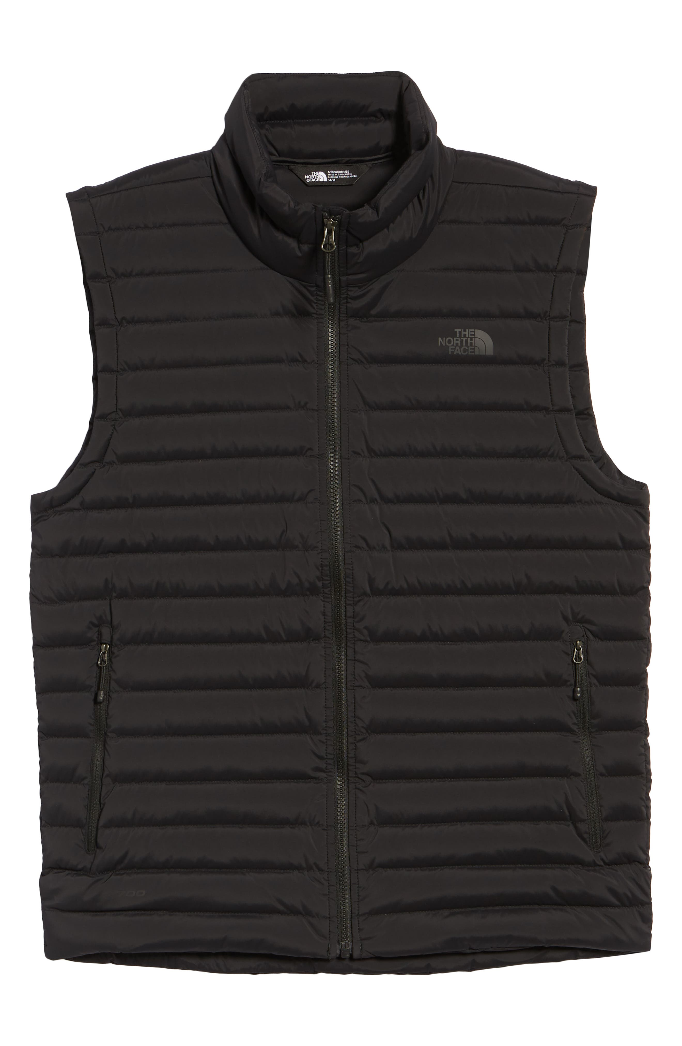 Stretch Slim Fit Packable Water Repellent 700-Fill Power Down Vest,                             Alternate thumbnail 6, color,                             TNF BLACK/ TNF BLACK