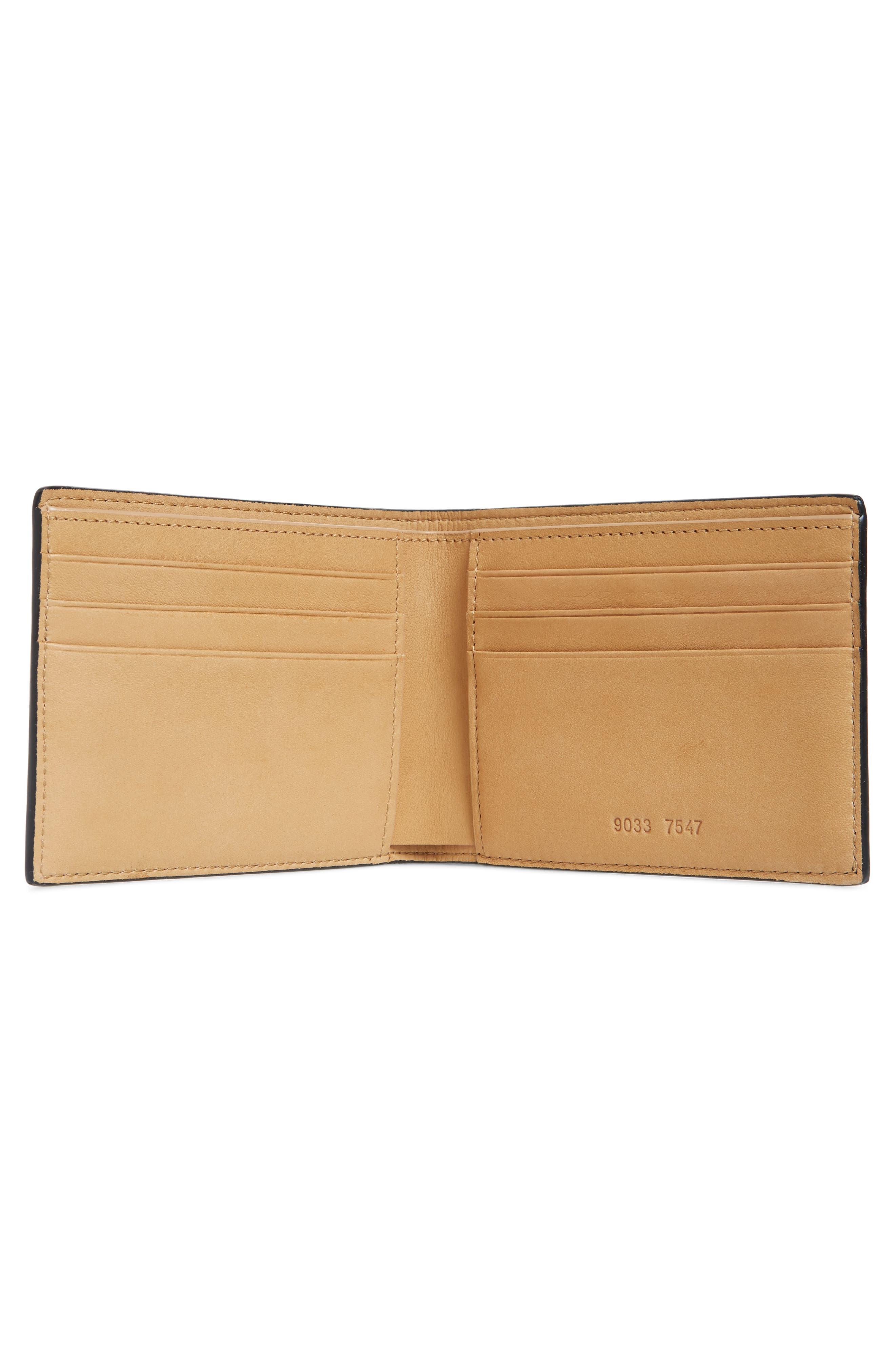 Saffiano Leather Wallet,                             Alternate thumbnail 2, color,                             BLACK