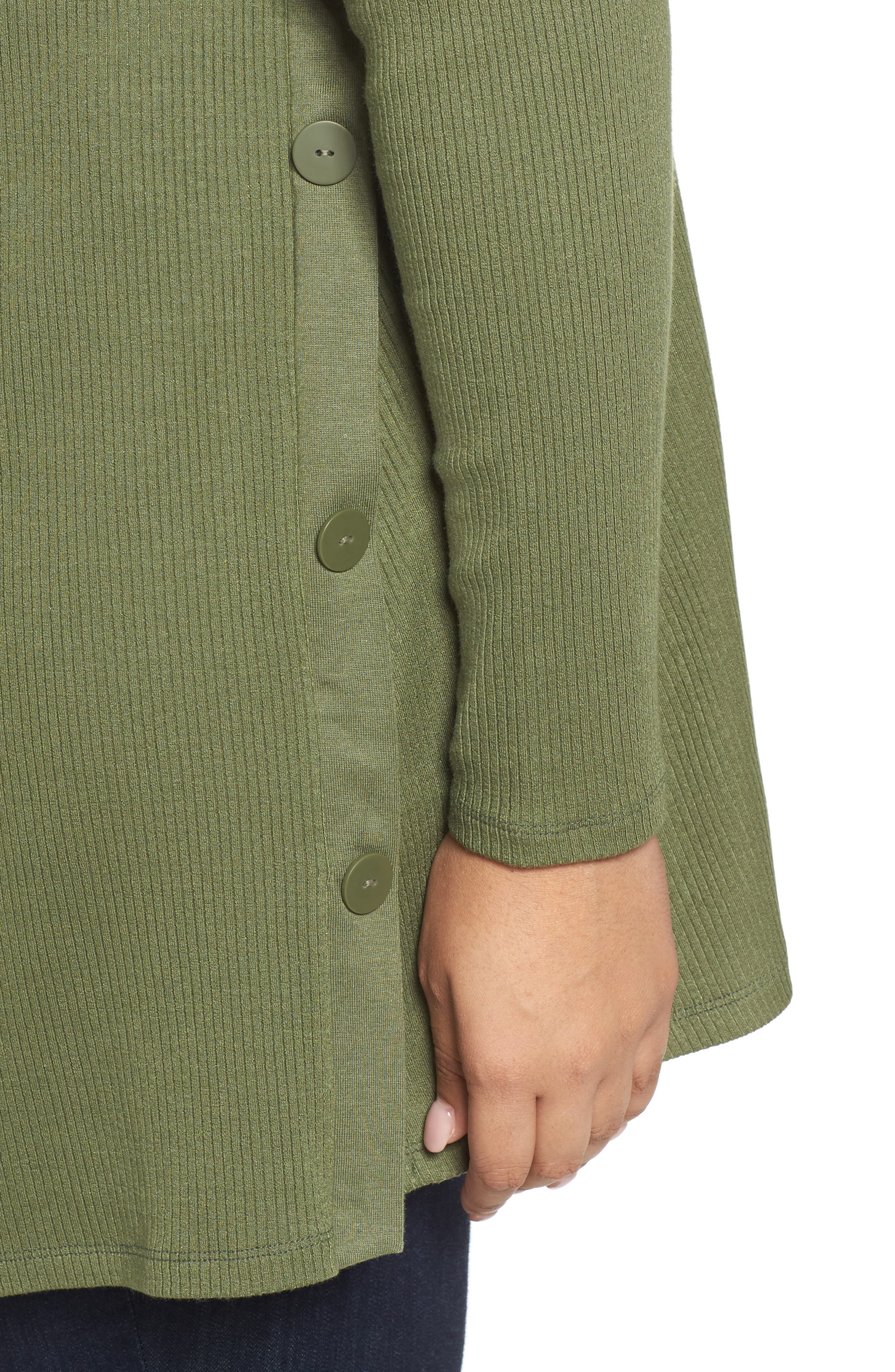 Easy Long Open Front Cardigan,                             Alternate thumbnail 8, color,