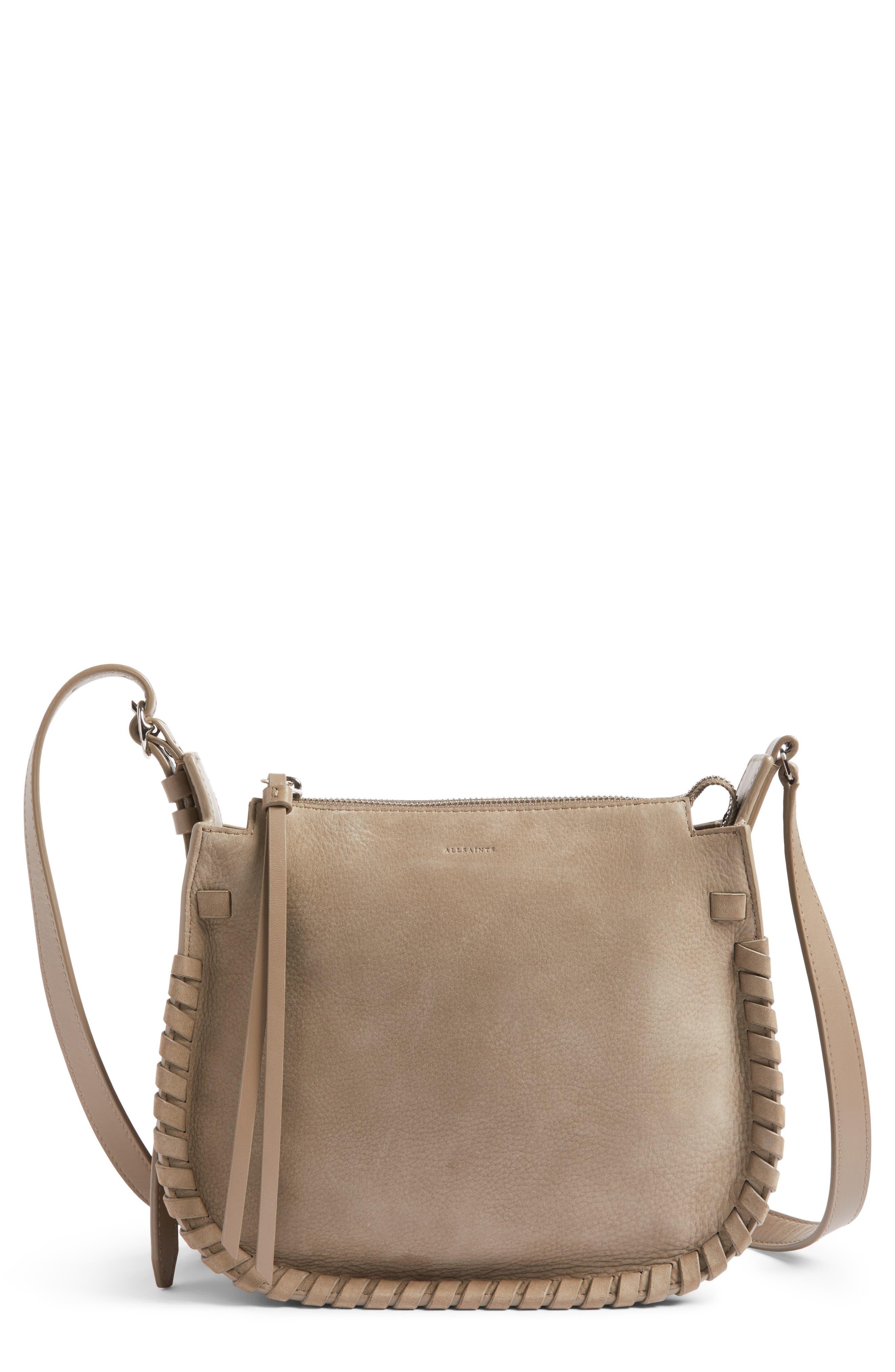 ALLSAINTS Ray Nubuck Crossbody Bag, Main, color, 080