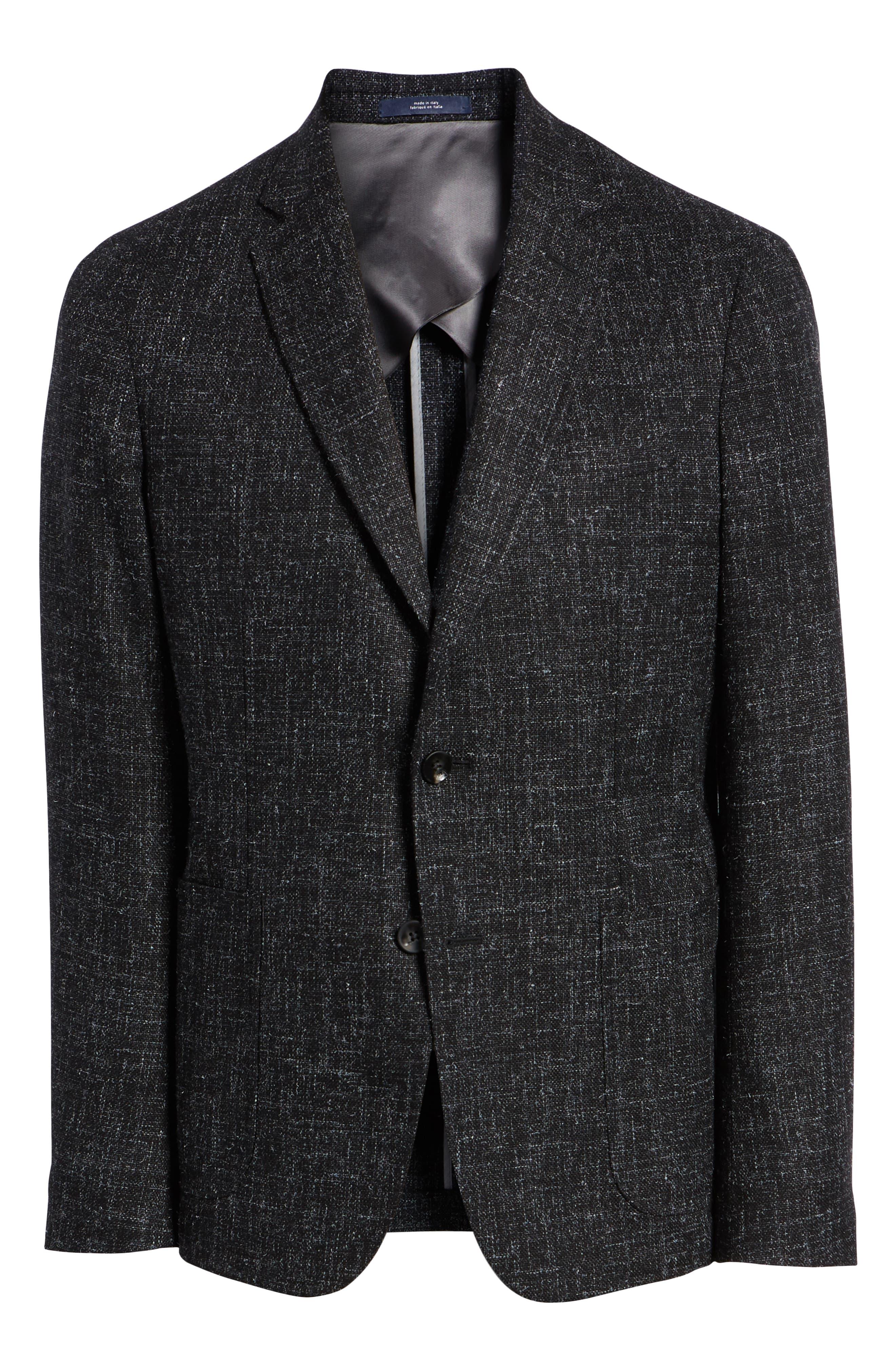 1901,                             Extra Trim Fit Wool Blend Sport Coat,                             Alternate thumbnail 5, color,                             001