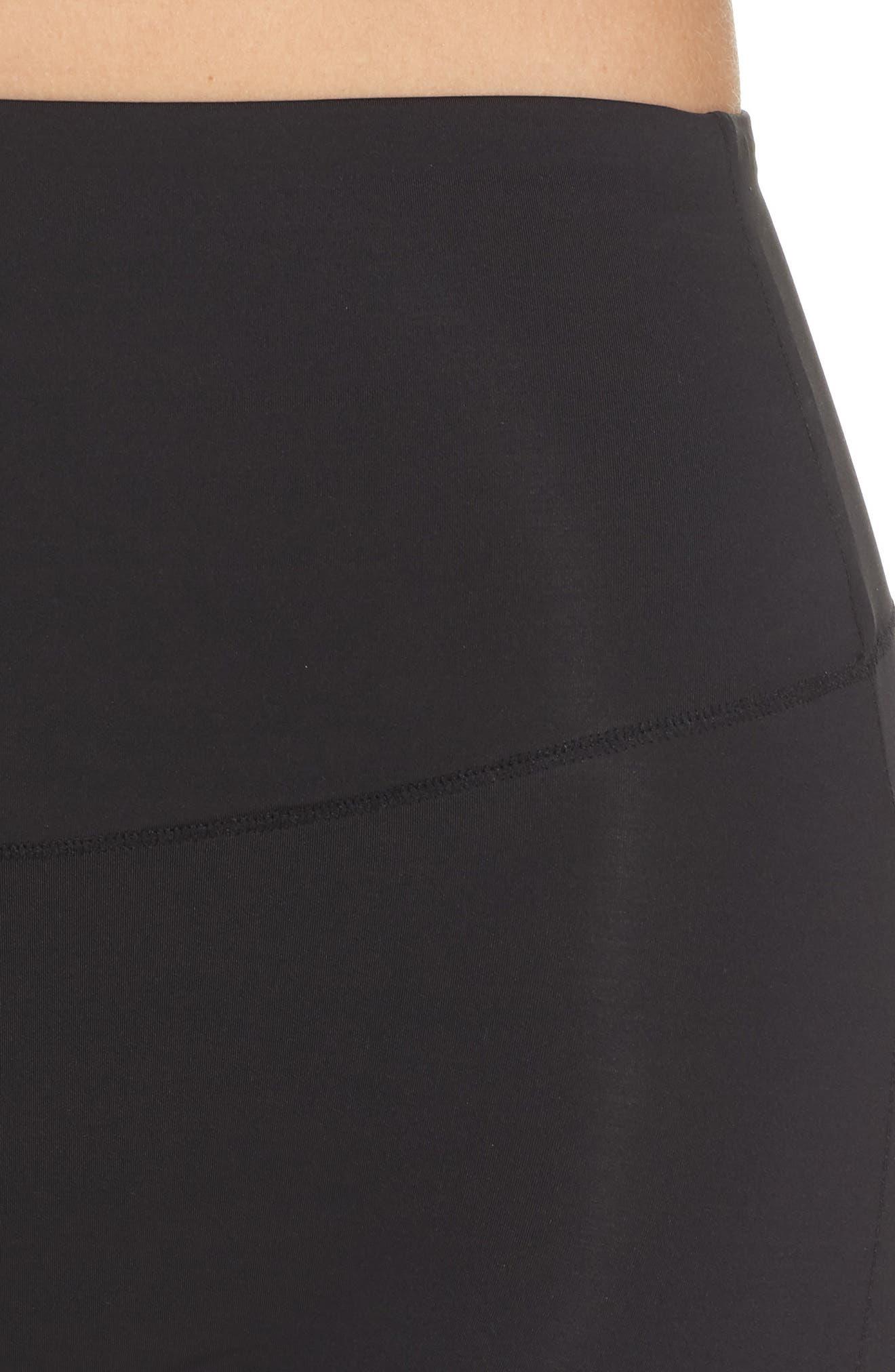 Tummie Tamers Mid Waist Shaping Shorts,                             Alternate thumbnail 4, color,                             001