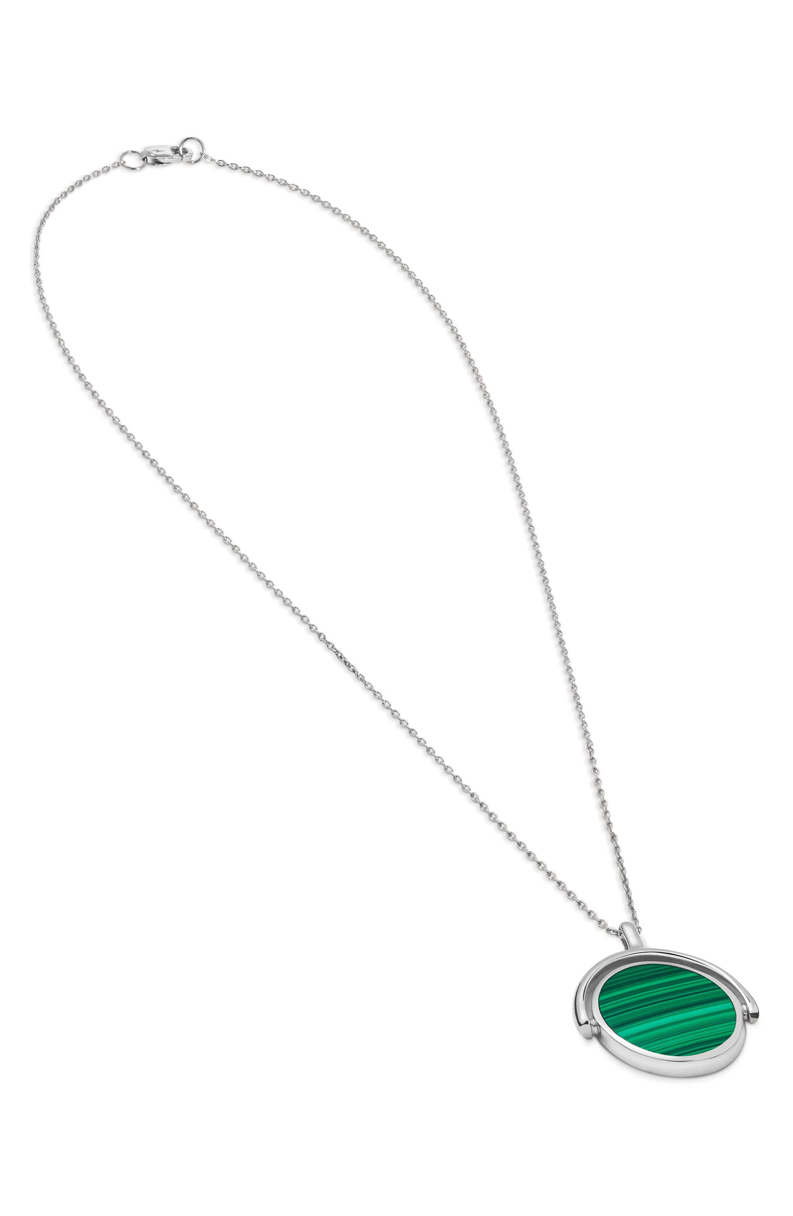 Rotating Signet Pendant Necklace,                             Alternate thumbnail 6, color,