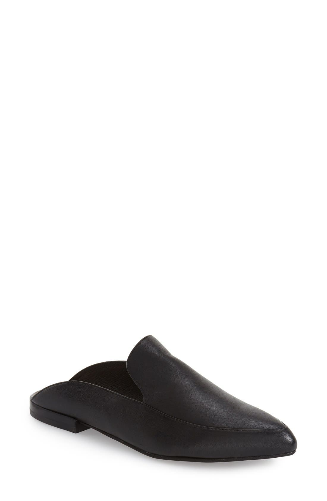 'Capri' Mule,                         Main,                         color, BLACK LEATHER