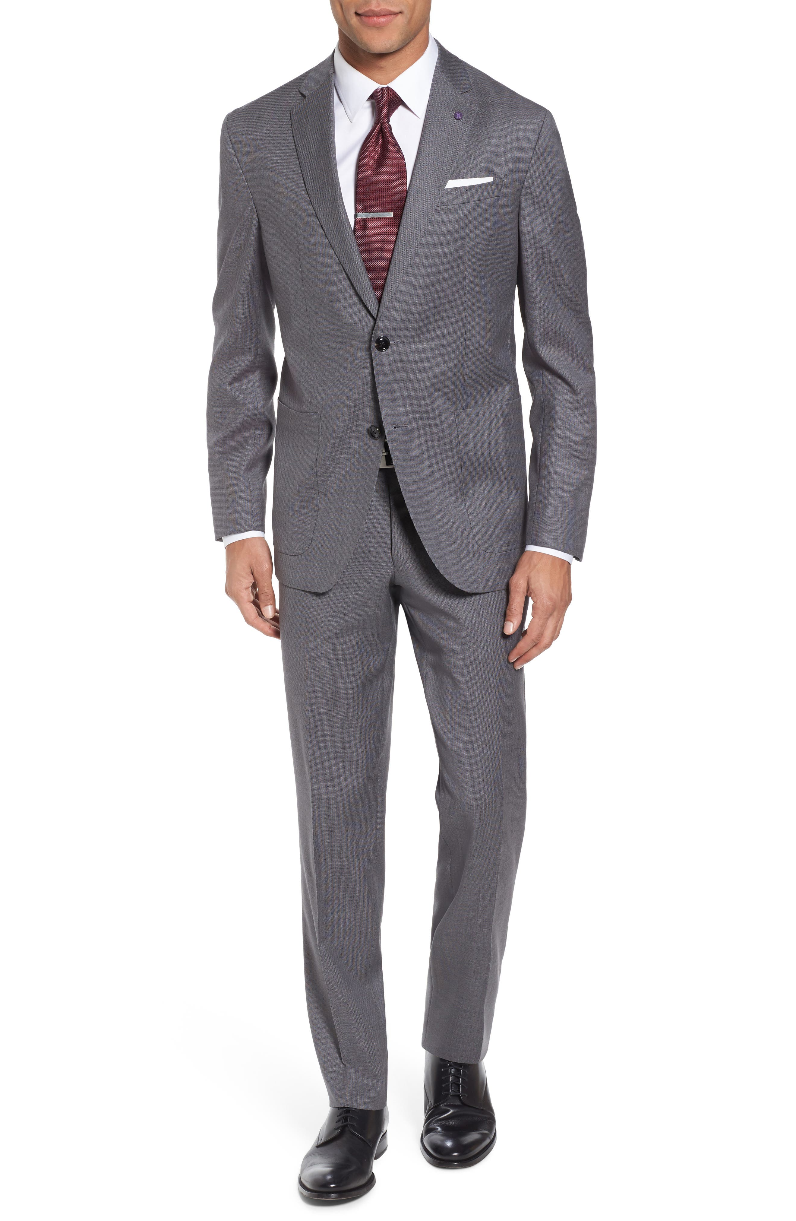 Kyle Trim Fit Solid Wool Suit,                             Main thumbnail 1, color,                             020