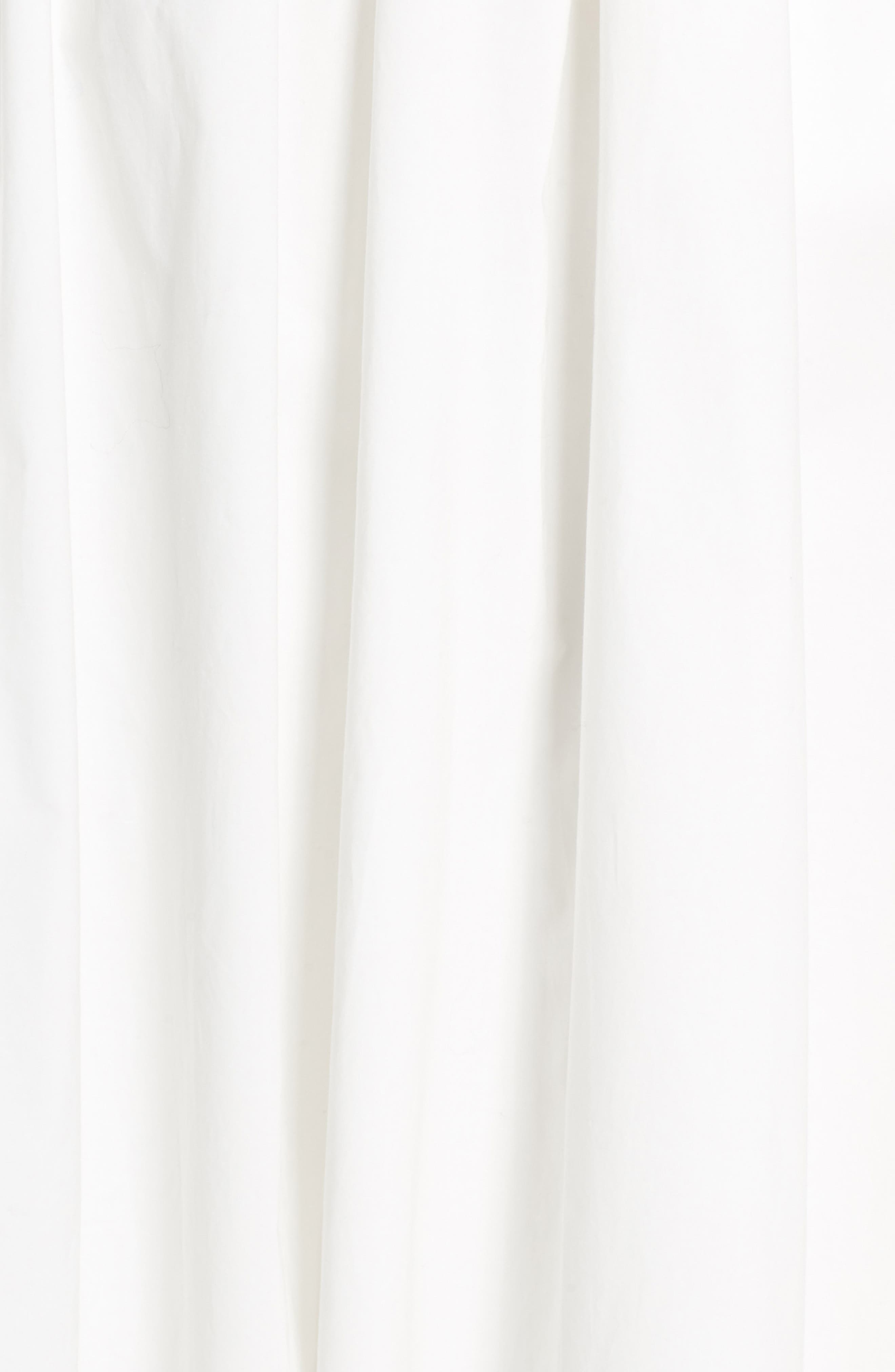 Tie Back Midi Dress,                             Alternate thumbnail 6, color,                             100