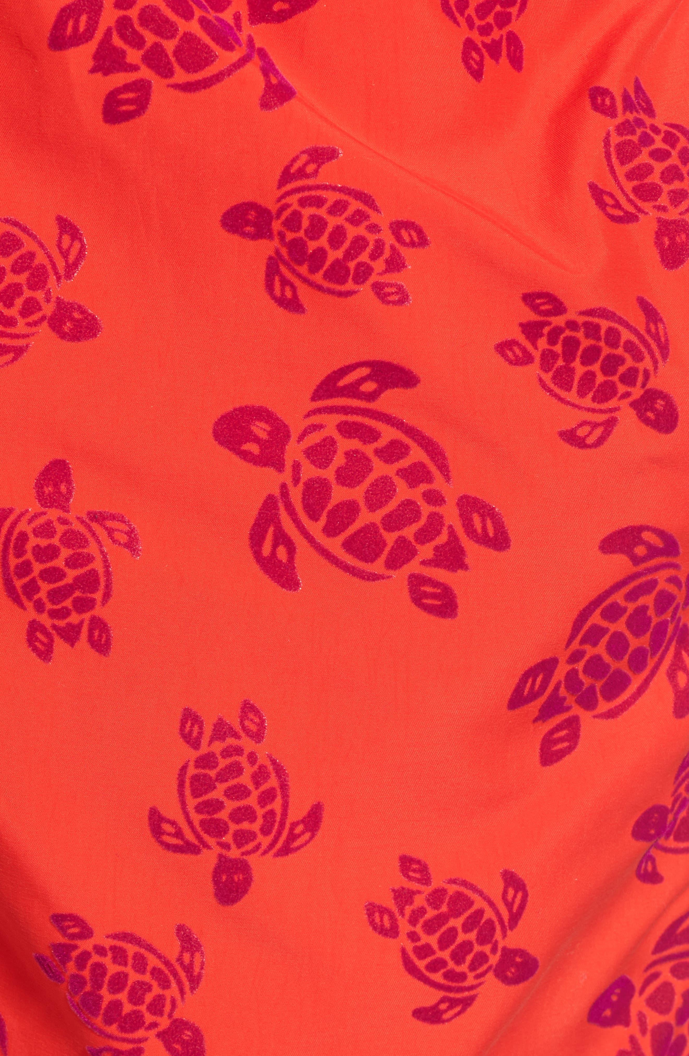 Flocked Turtles Swim Trunks,                             Alternate thumbnail 5, color,                             612