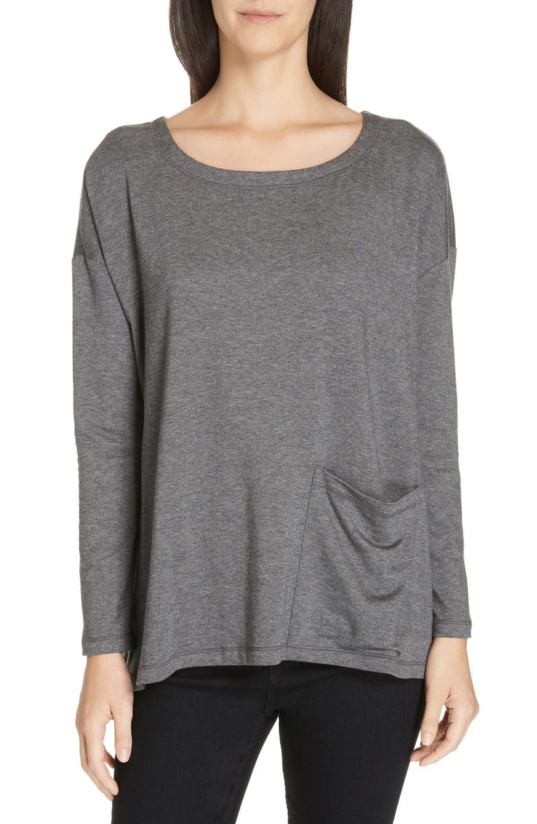 EILEEN FISHER STRETCH TERRY TOP