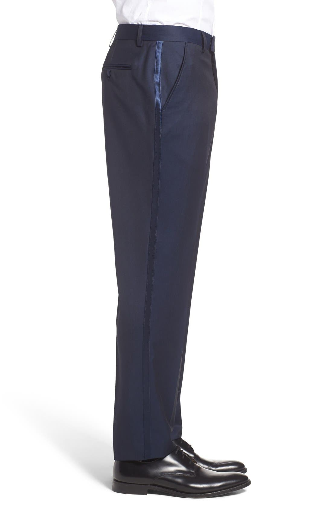 'Pashion' Flat Front Wool & Mohair Trousers,                             Alternate thumbnail 2, color,                             410