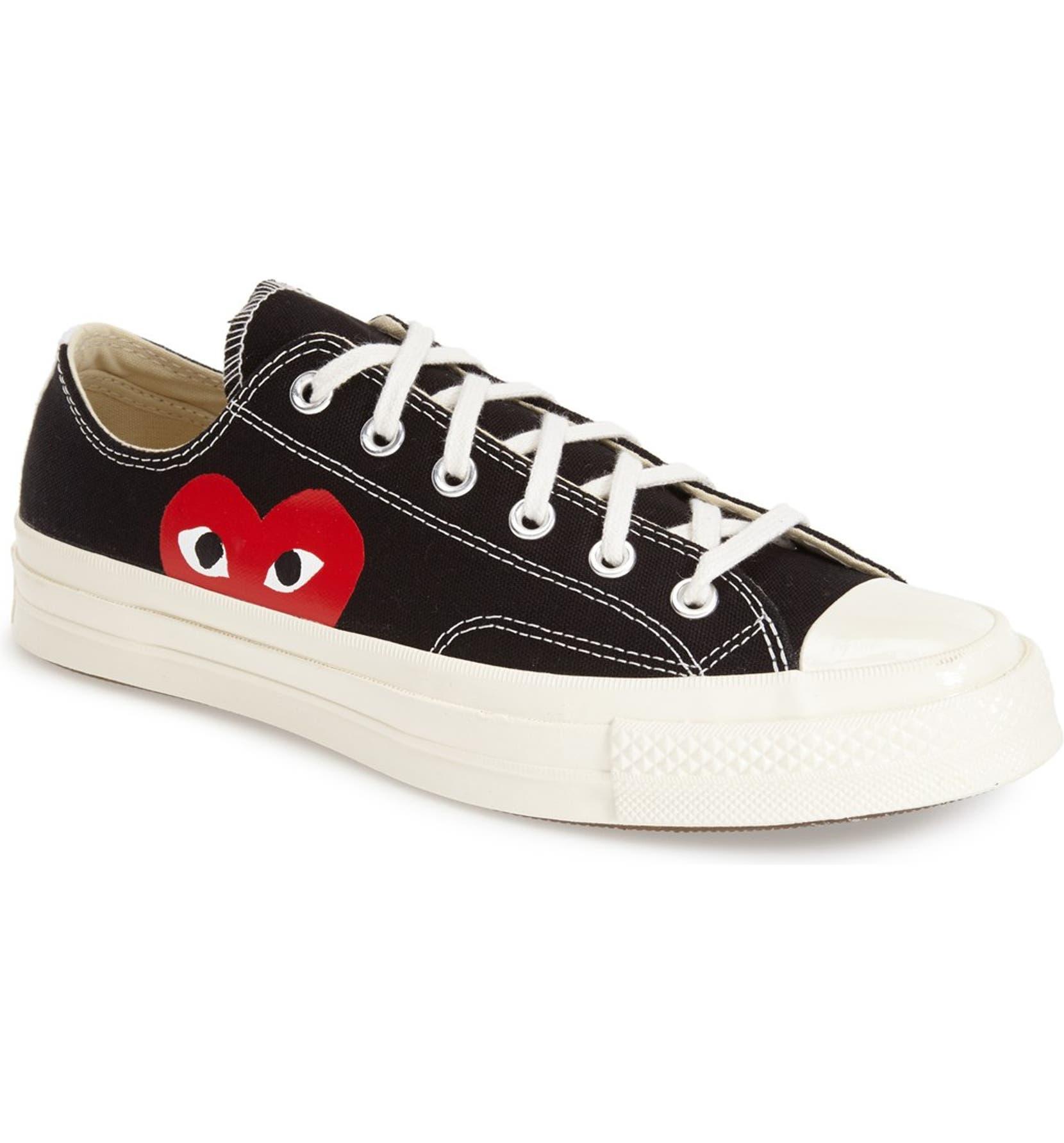 Comme des Garçons PLAY x Converse Chuck Taylor® Low Top Sneaker (Men ... 3225ab26f