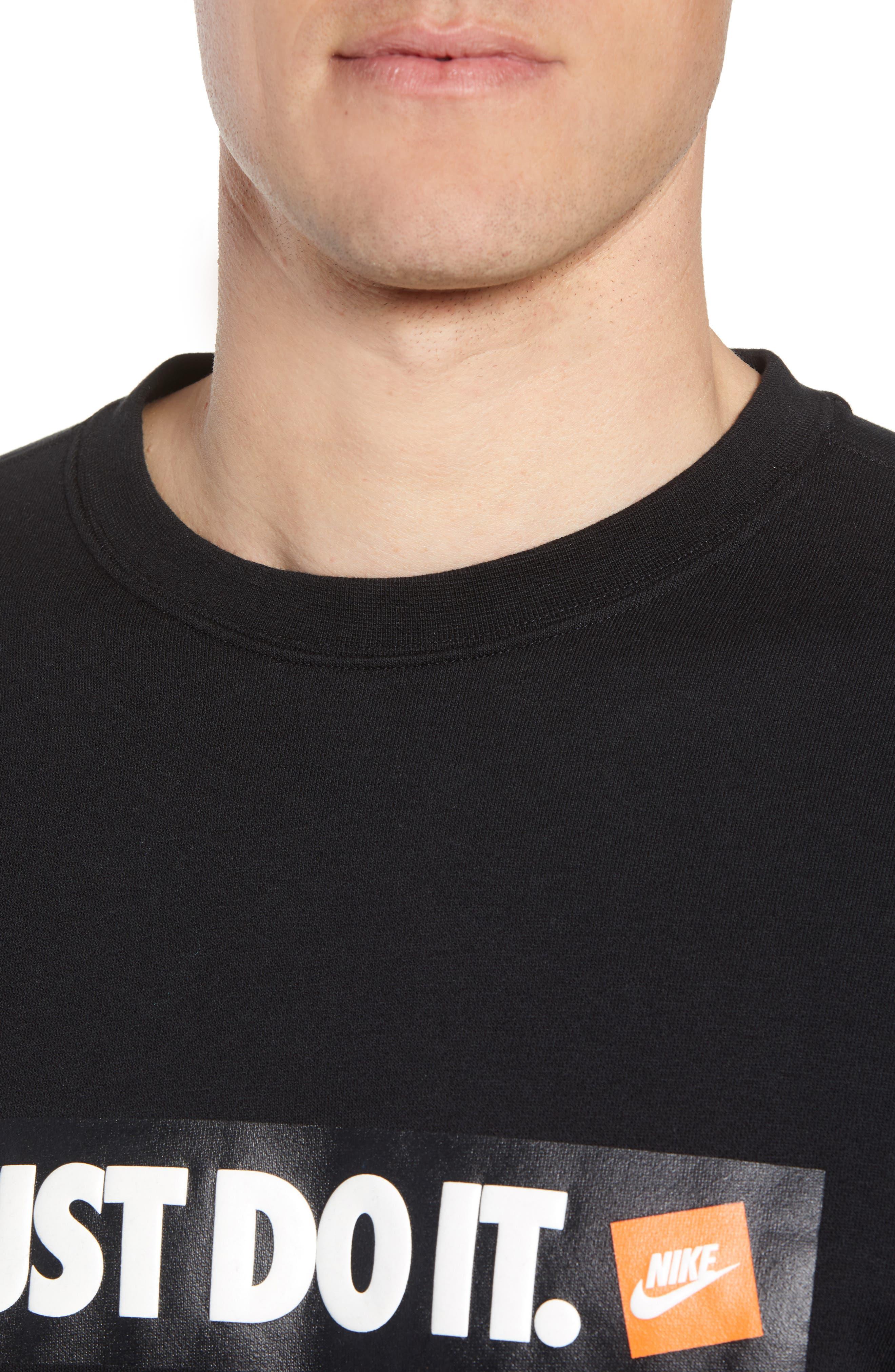 Just Do It Logo Sweatshirt,                             Alternate thumbnail 4, color,                             010