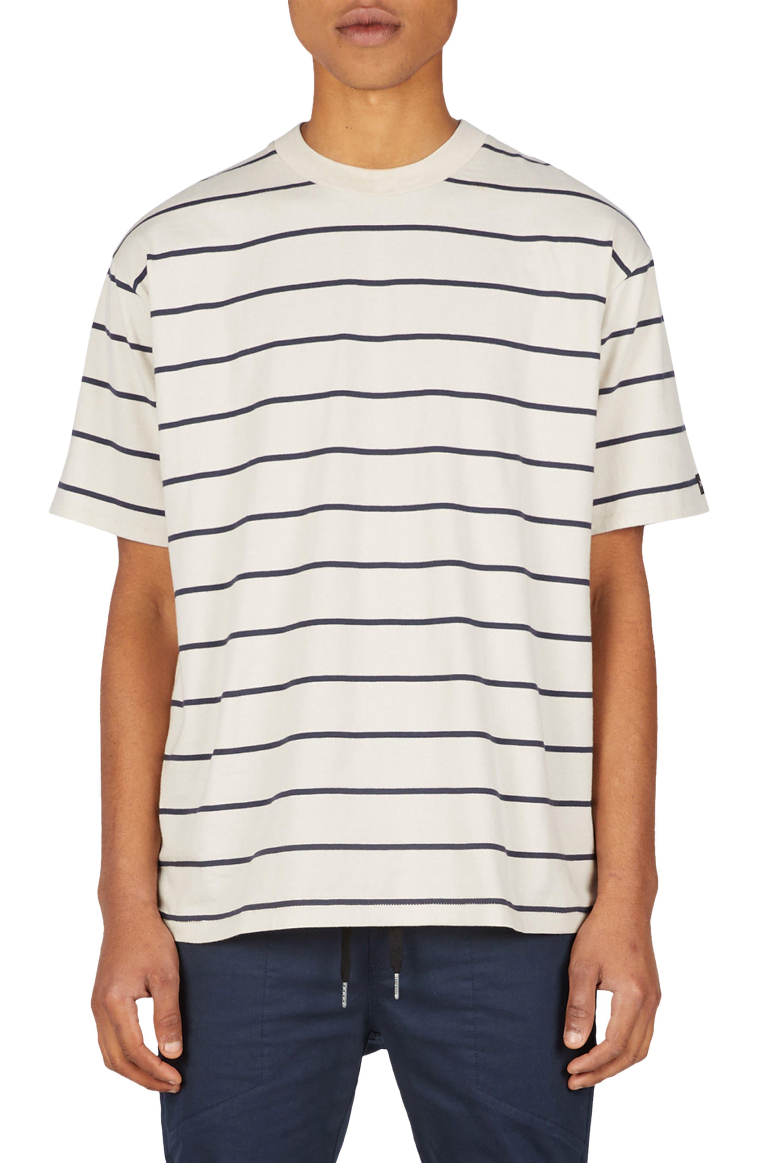 Stripe Box T-Shirt,                         Main,                         color, NATURAL/ DUKE BLUE