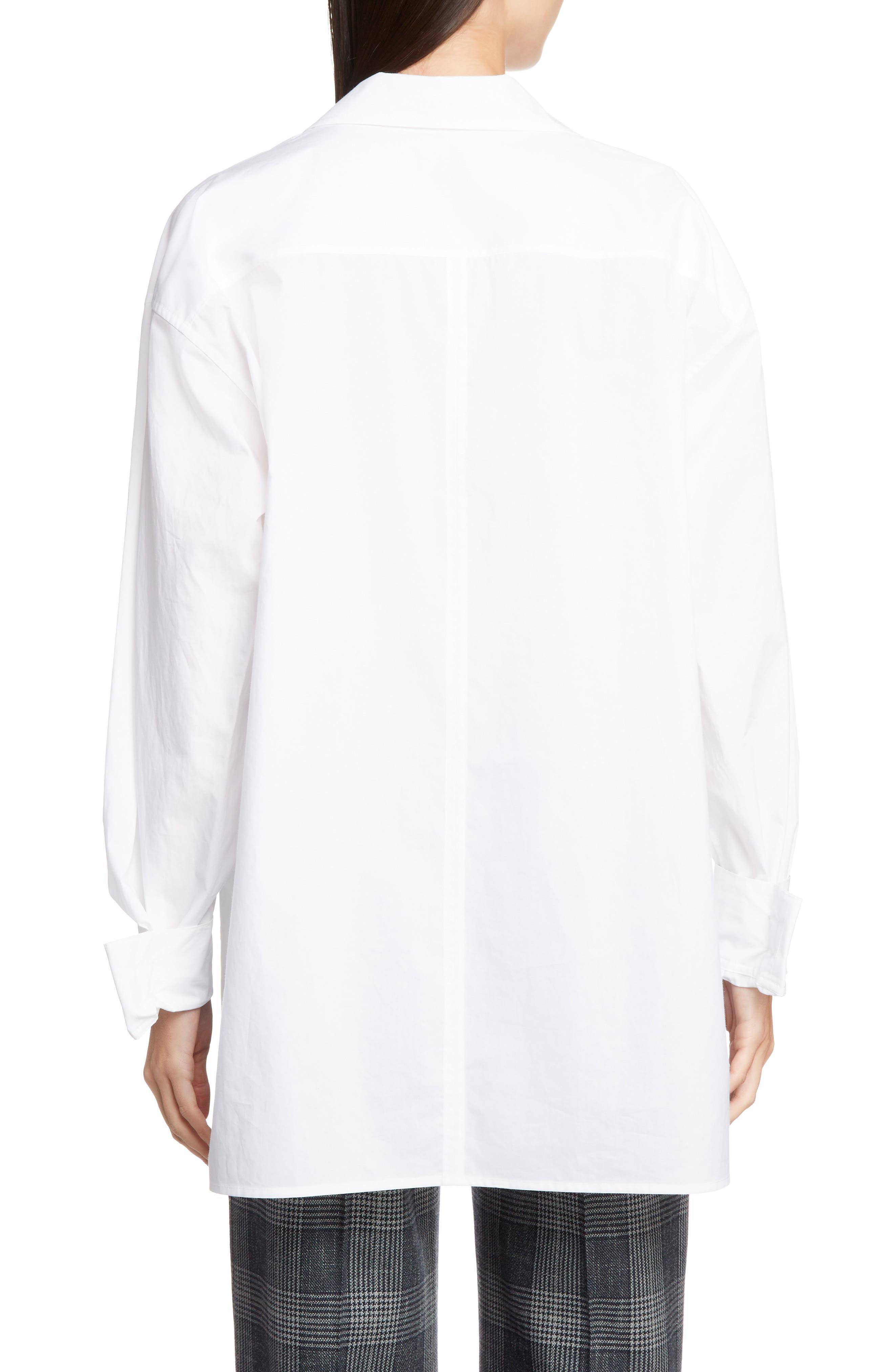 ACNE STUDIOS,                             Spread Collar Shirt,                             Alternate thumbnail 2, color,                             WHITE