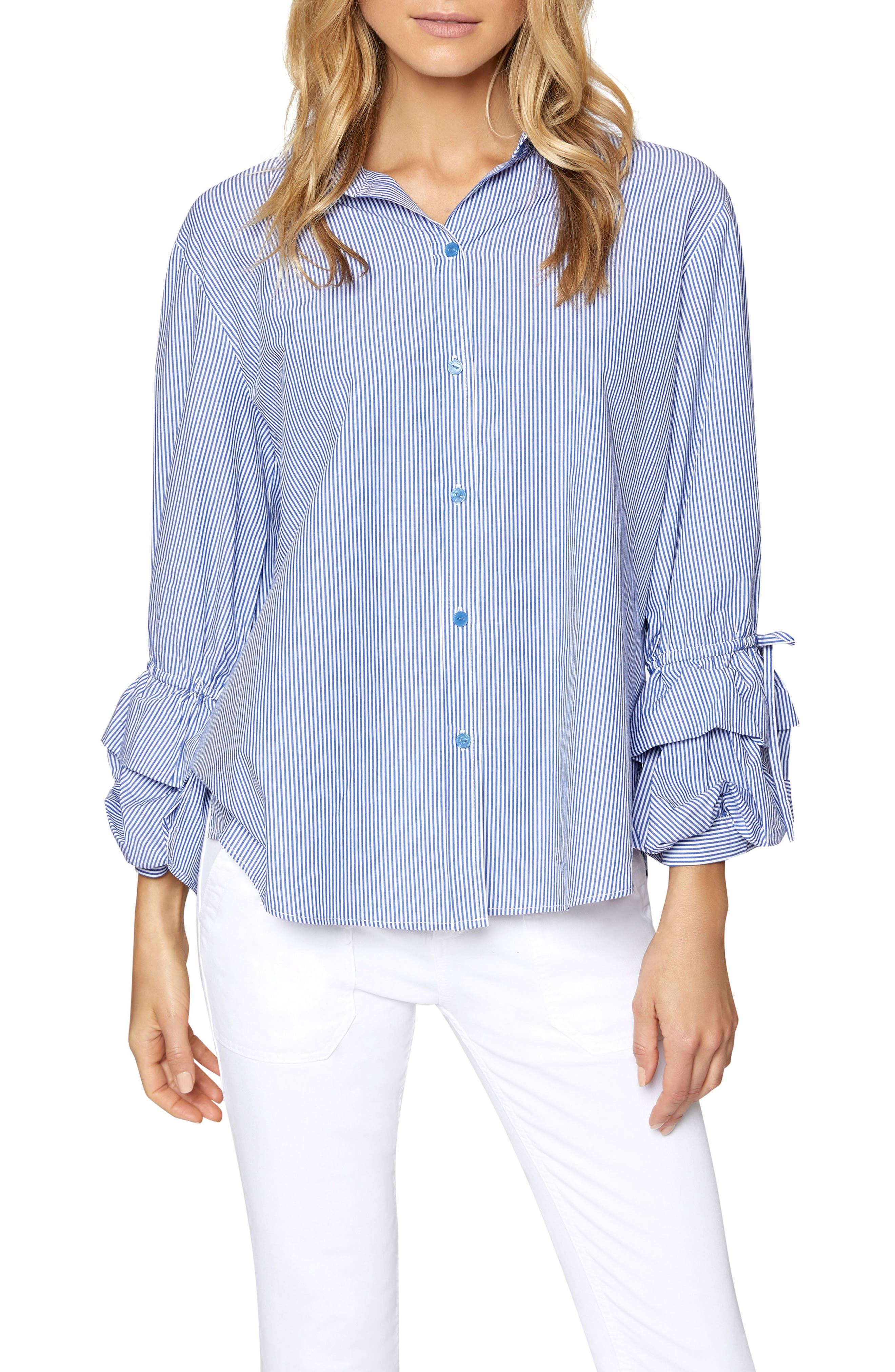Frankie Ruffle Sleeve Shirt,                             Alternate thumbnail 4, color,                             422