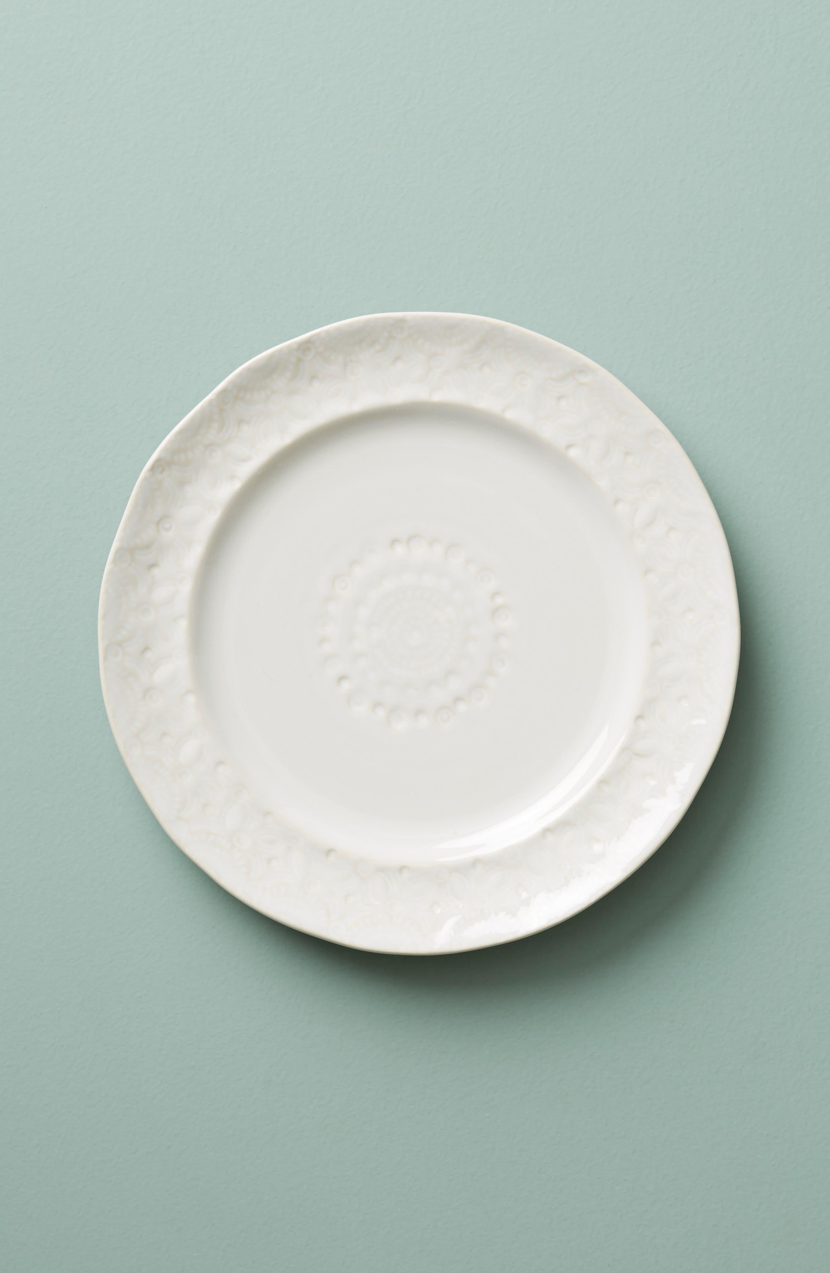 Old Havana Stoneware Side Plate,                             Main thumbnail 1, color,                             WHITE