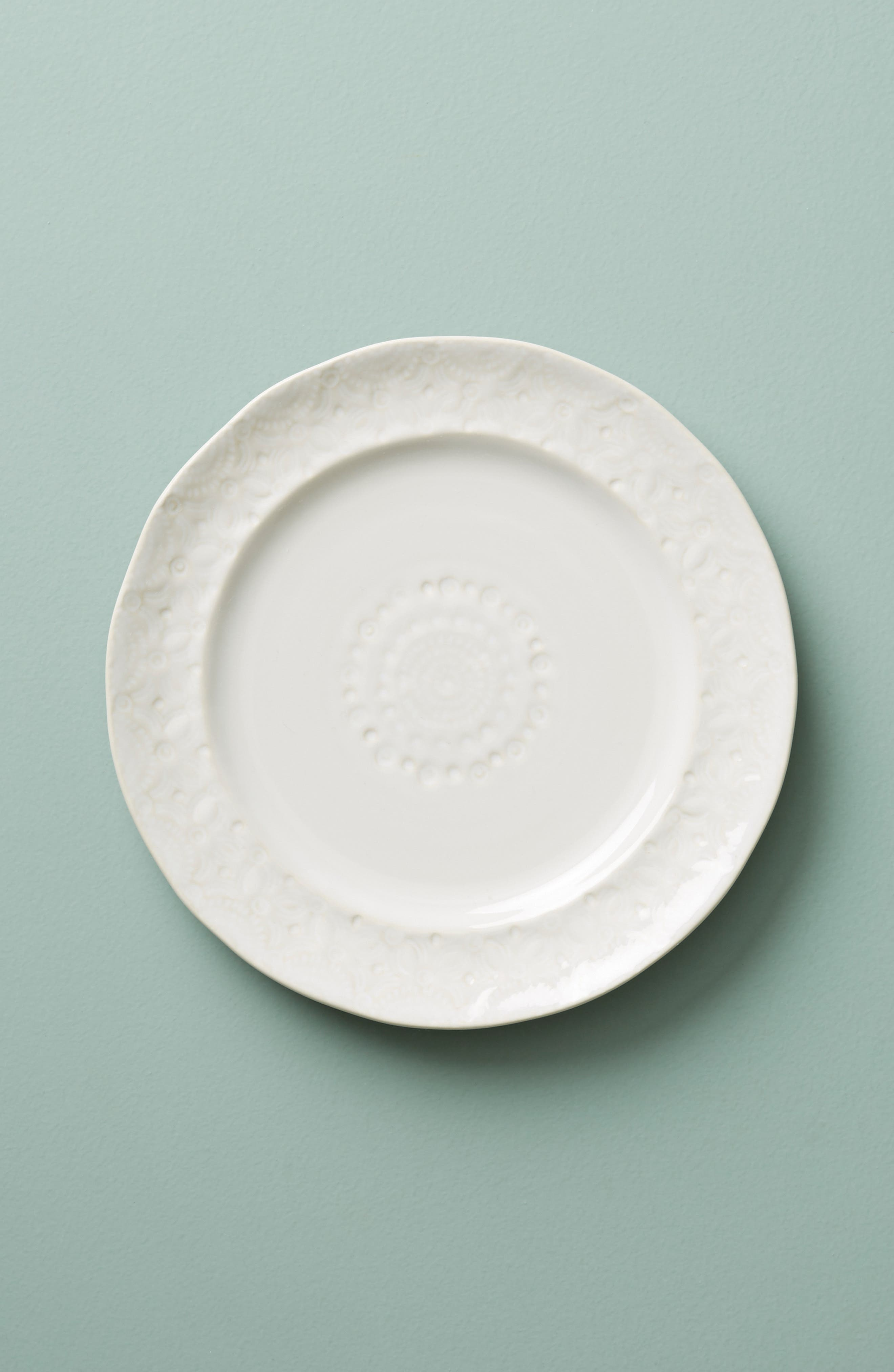 Old Havana Stoneware Side Plate,                         Main,                         color, WHITE