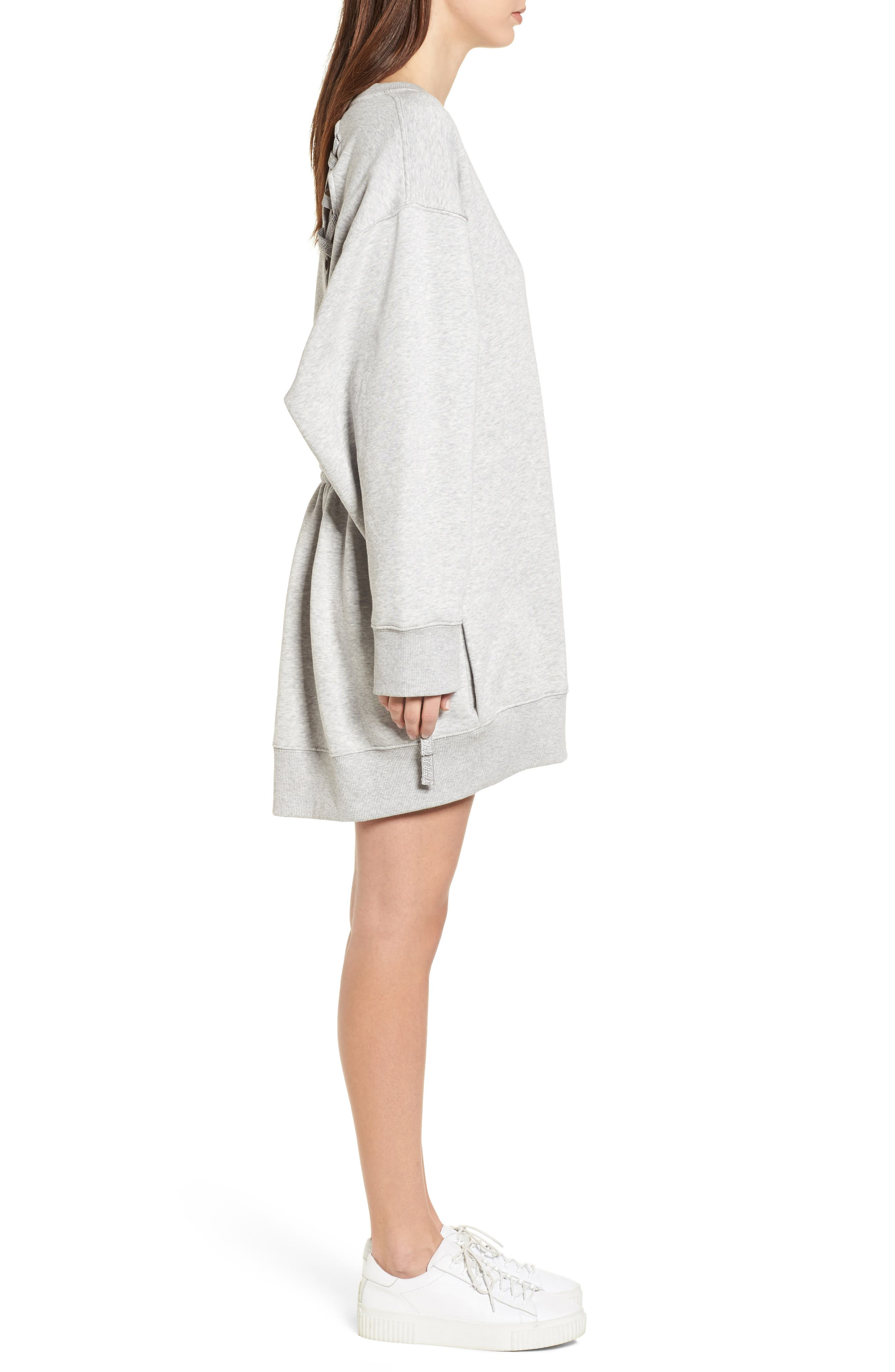 x Gigi Hadid Sweatshirt Dress,                             Alternate thumbnail 3, color,                             020