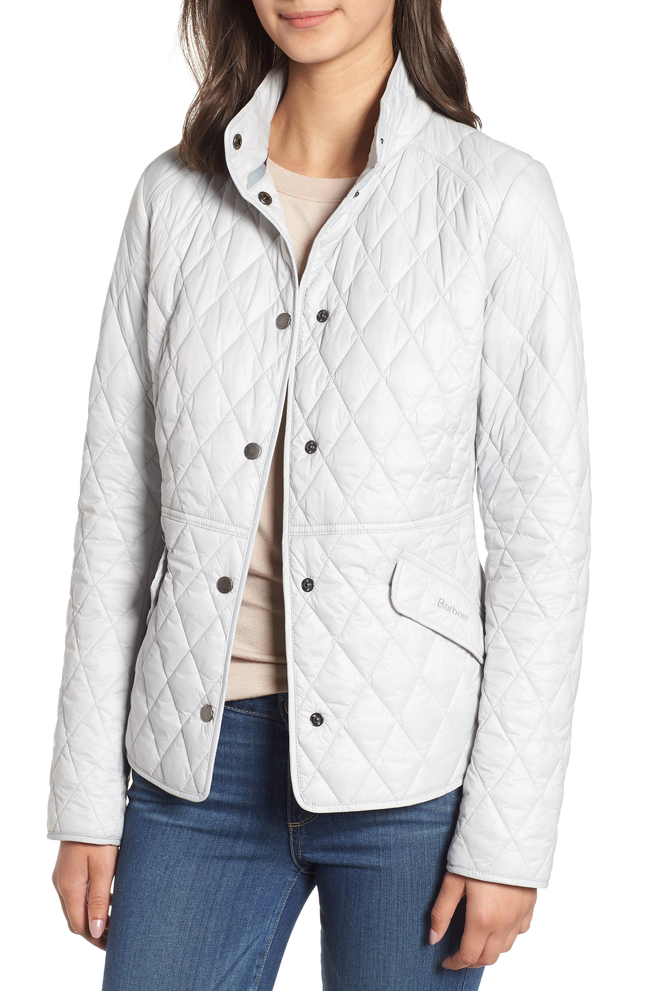 Barbour Annis Quilted Jacket, US / 8 UK - White