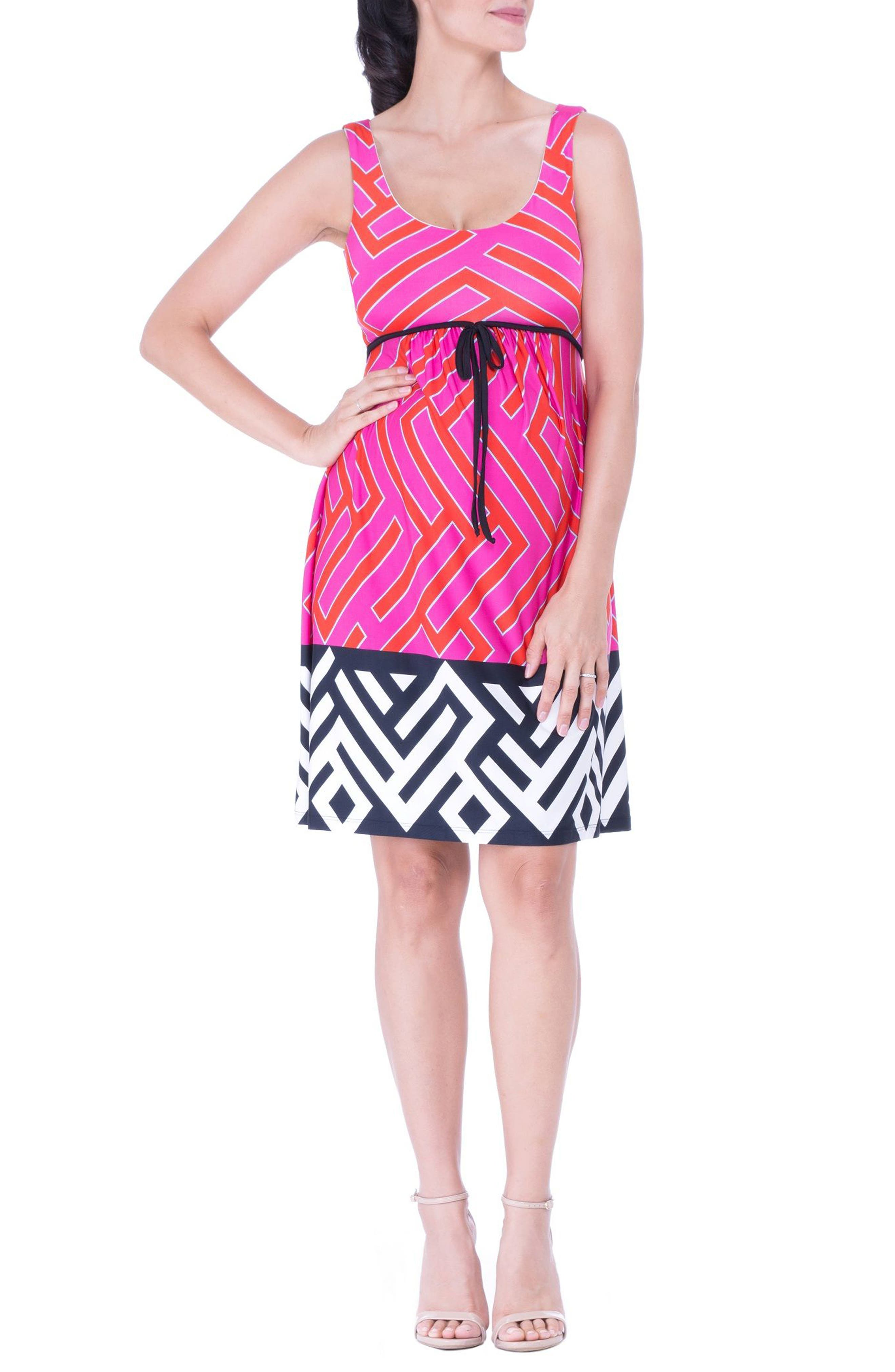 Maternity Tank Dress,                         Main,                         color, FUCHSIA