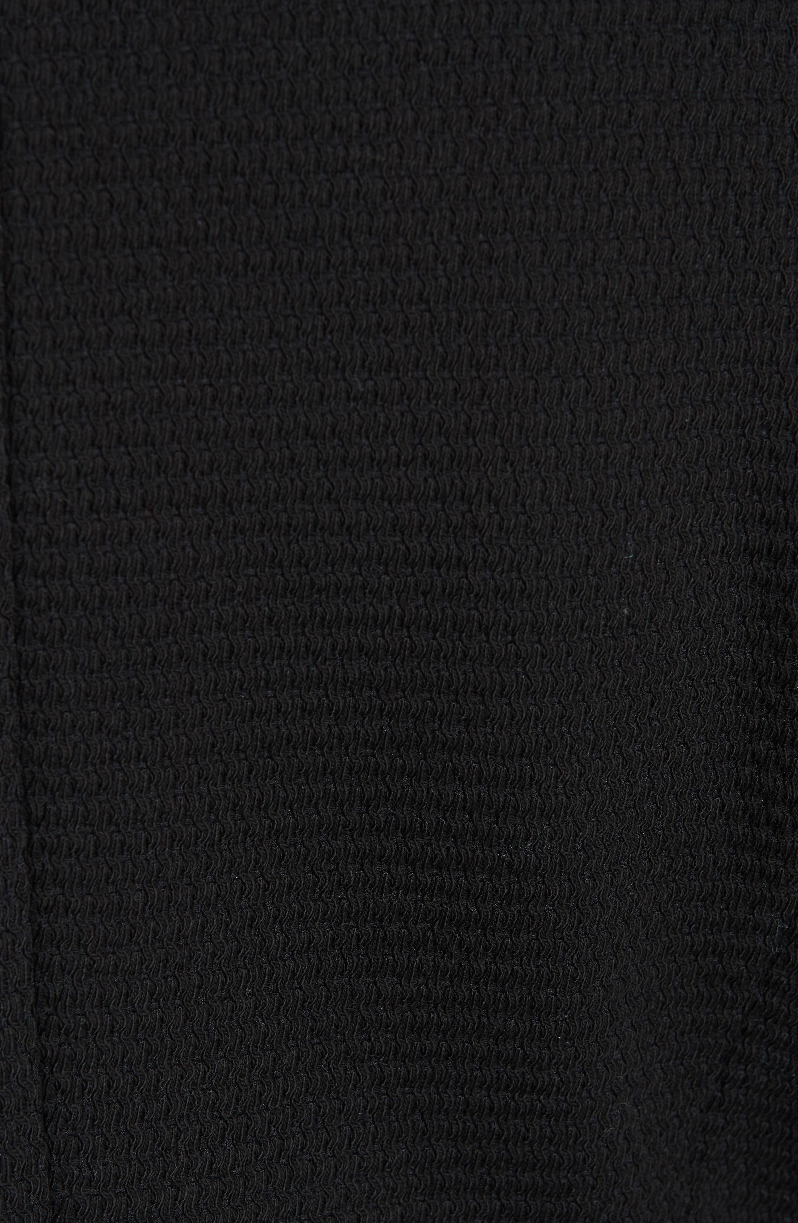 Kemio Textured Jersey Suit Jacket,                             Alternate thumbnail 6, color,                             BLACK