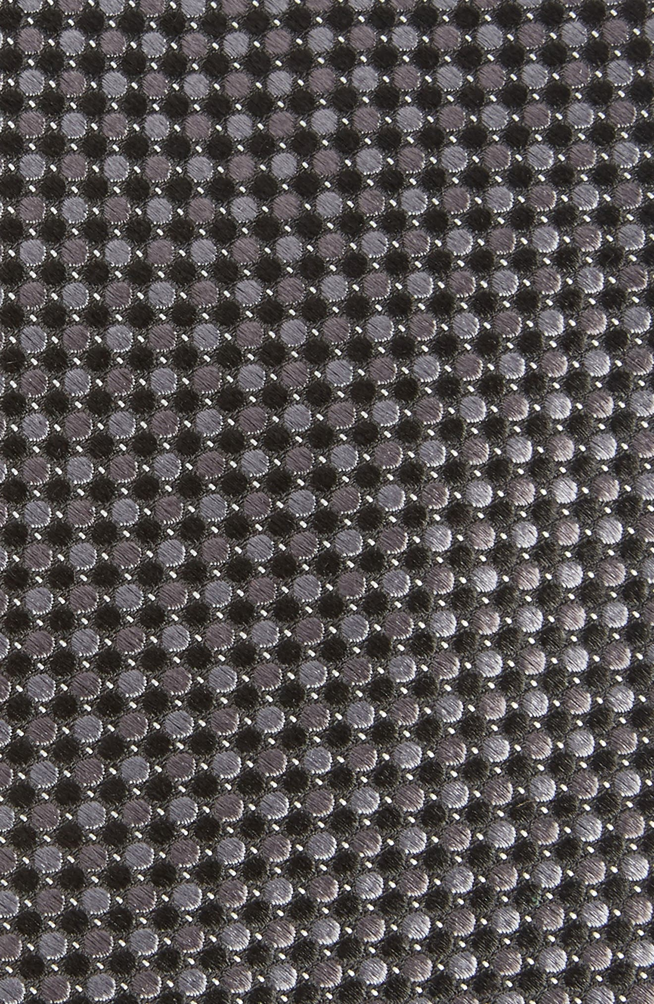 Morris Micro Silk Tie,                             Alternate thumbnail 2, color,                             BLACK