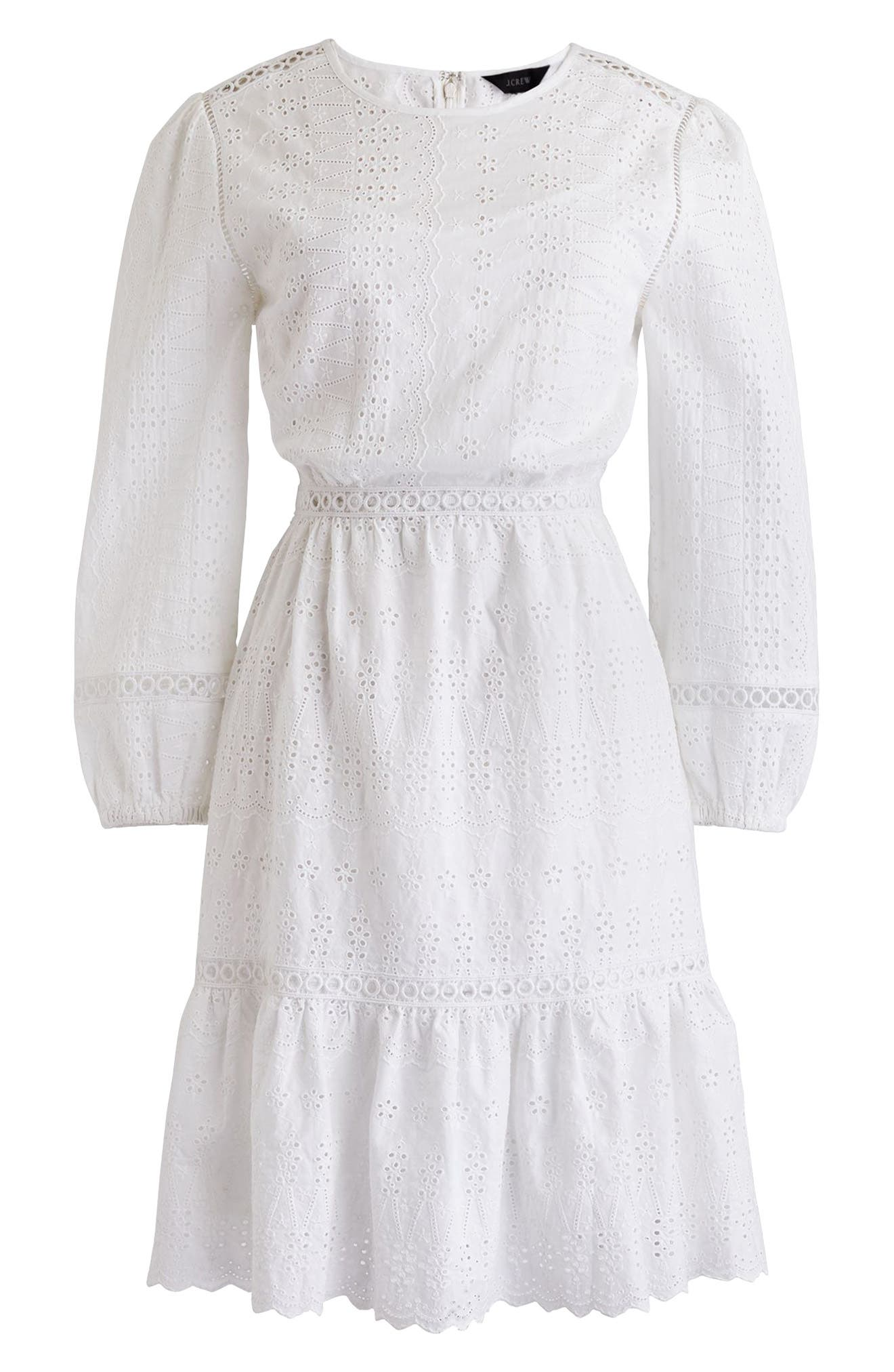Long Sleeve Embroidered Dress,                             Alternate thumbnail 16, color,