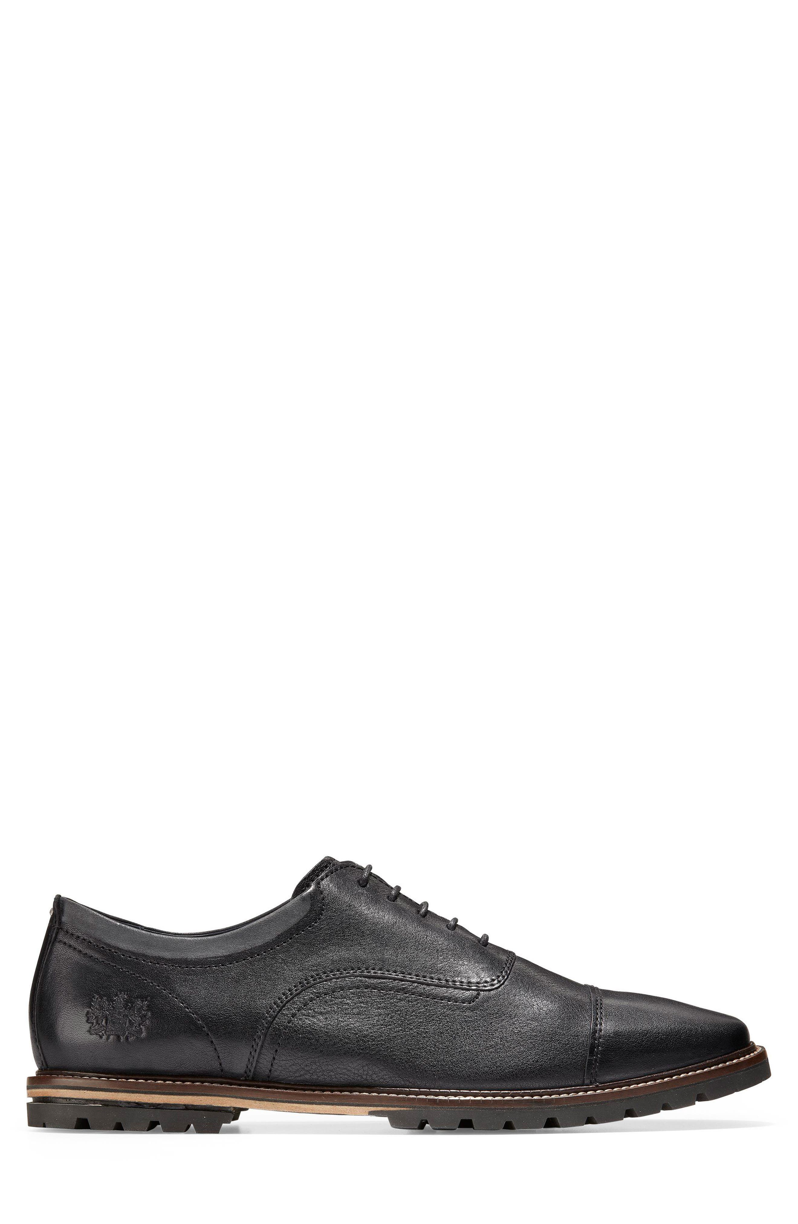 Richardson Cap Toe Derby,                             Alternate thumbnail 3, color,                             BLACK LEATHER