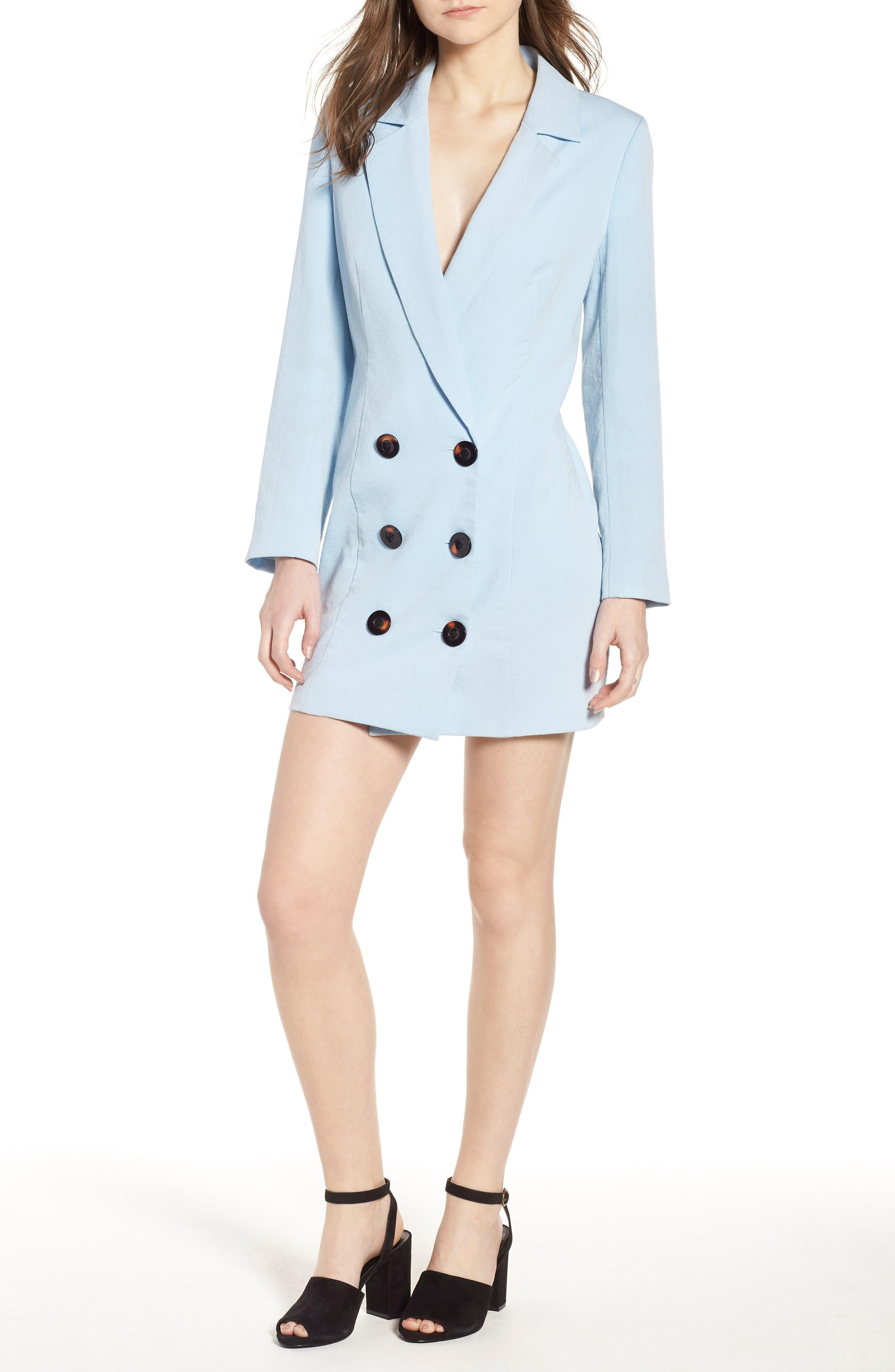 Kaia Blazer Dress,                             Main thumbnail 1, color,                             400