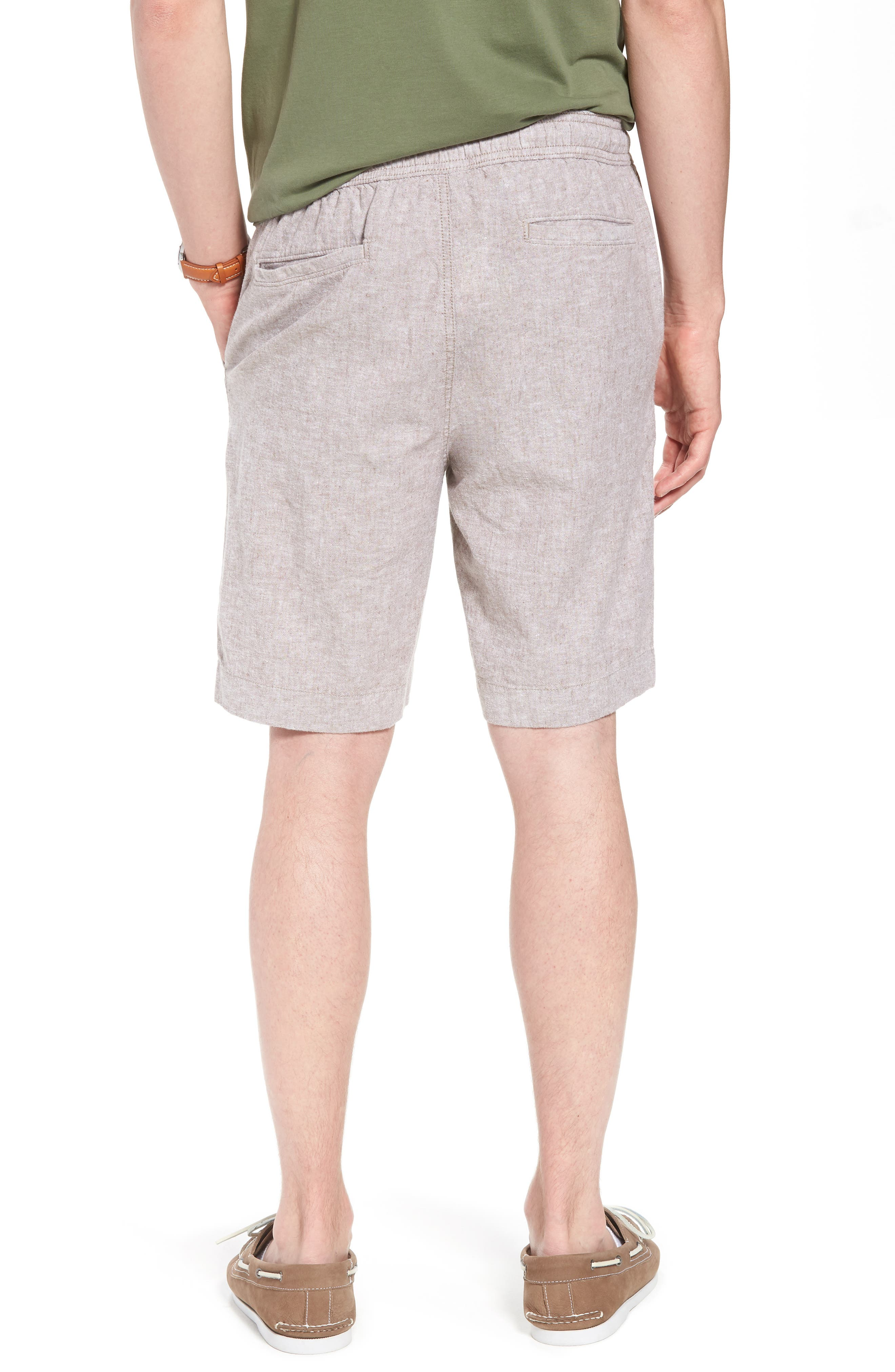 Drawstring Linen Blend Shorts,                             Alternate thumbnail 5, color,