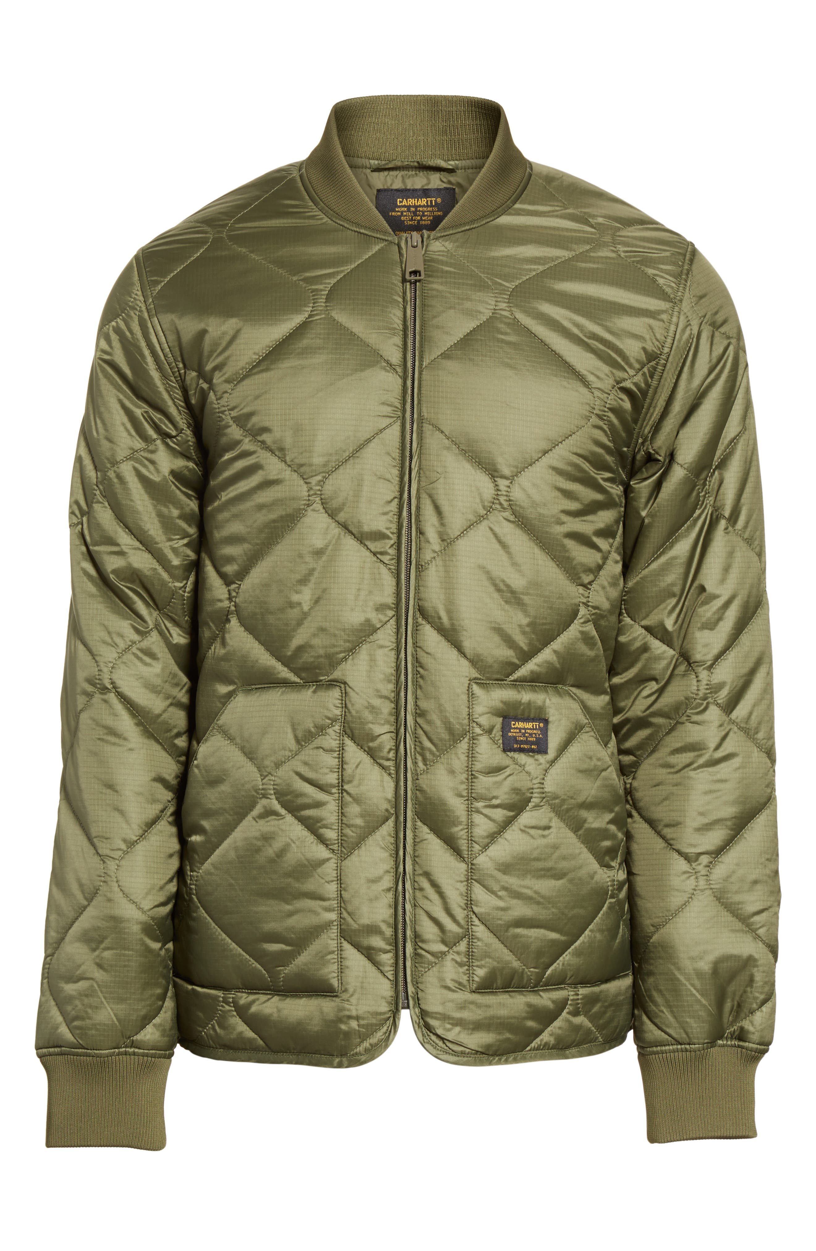 Quilted Ripstop Bomber Jacket,                             Alternate thumbnail 5, color,                             312