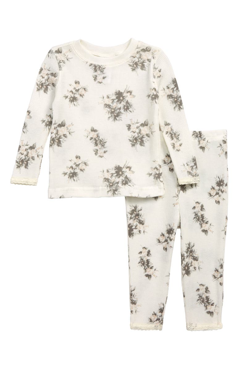Something Navy Floral Fitted Thermal Two-Piece Pajamas (Baby ... c4286e5d7