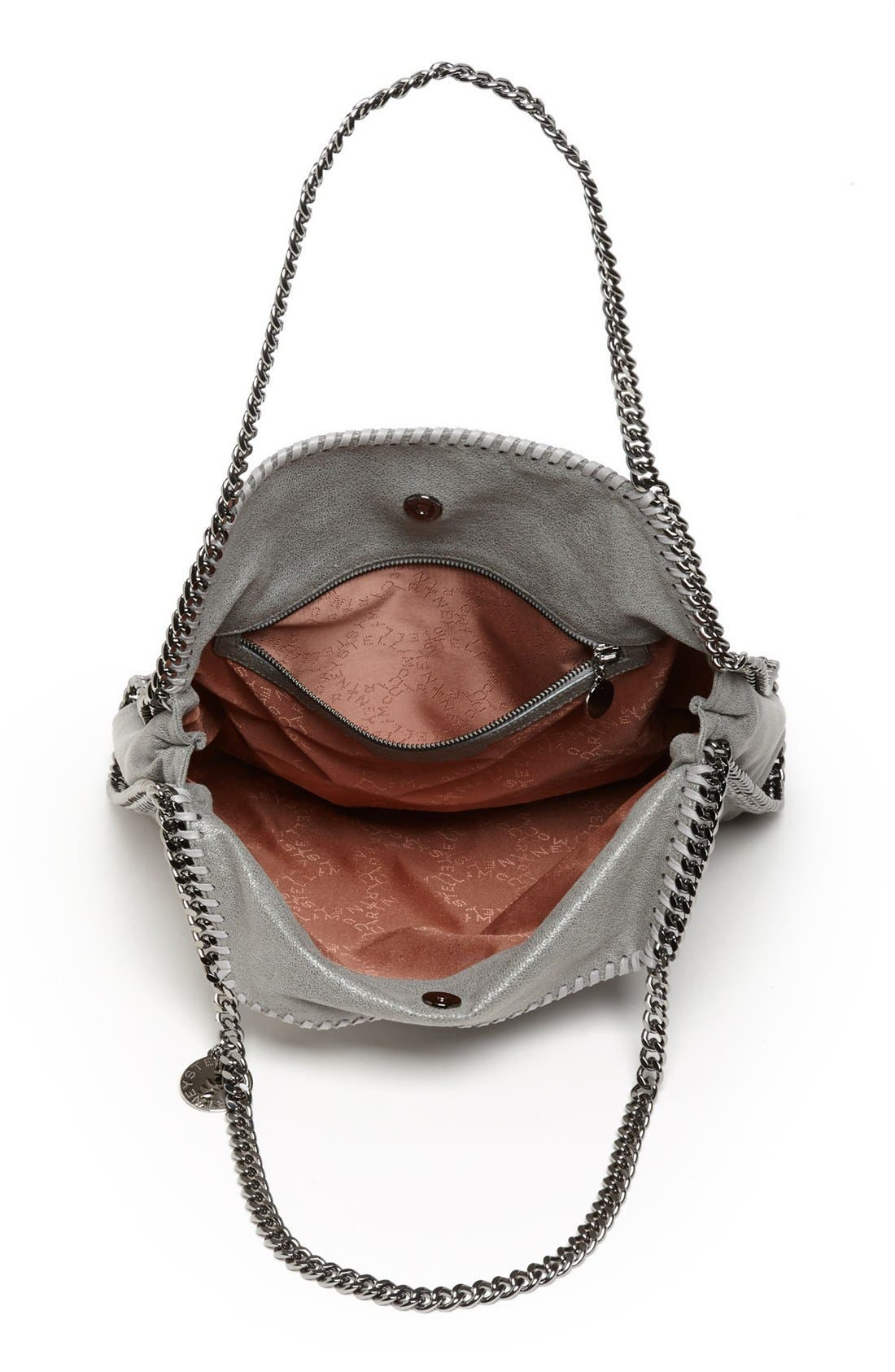 'Small Falabella - Shaggy Deer' Faux Leather Tote,                             Alternate thumbnail 4, color,                             LT.GREY