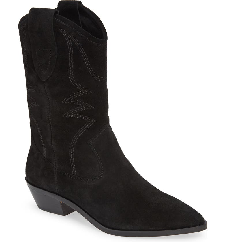 Kaiegan Bootie,                         Main,                         color, BLACK LEATHER
