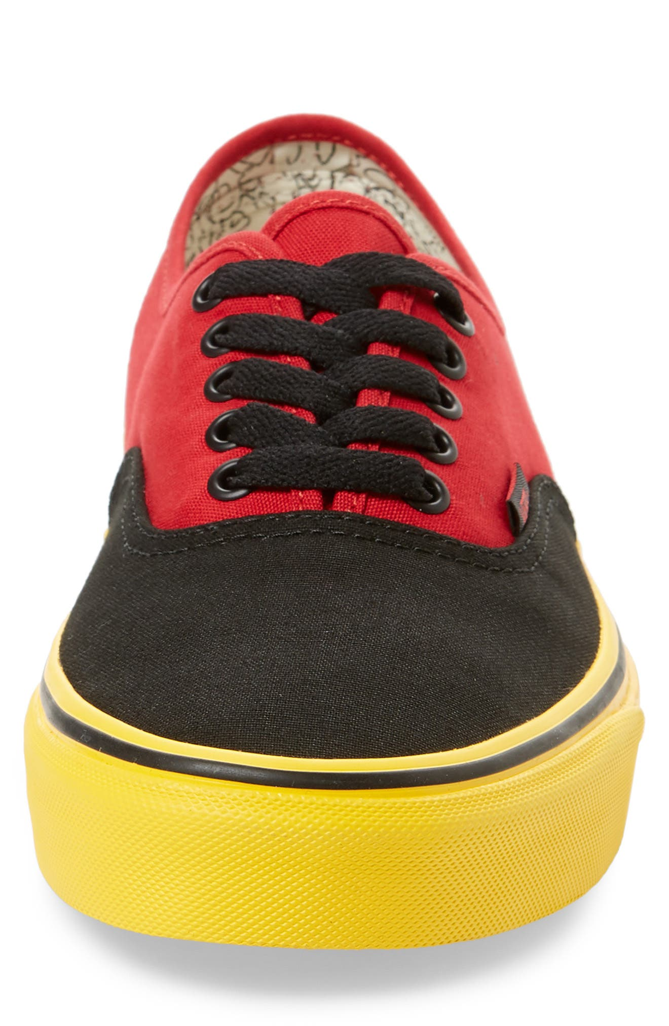 x Disney<sup>®</sup> Authentic Low Top Sneaker,                             Alternate thumbnail 4, color,                             DISNEY MICKEY/ RED/ YELLOW