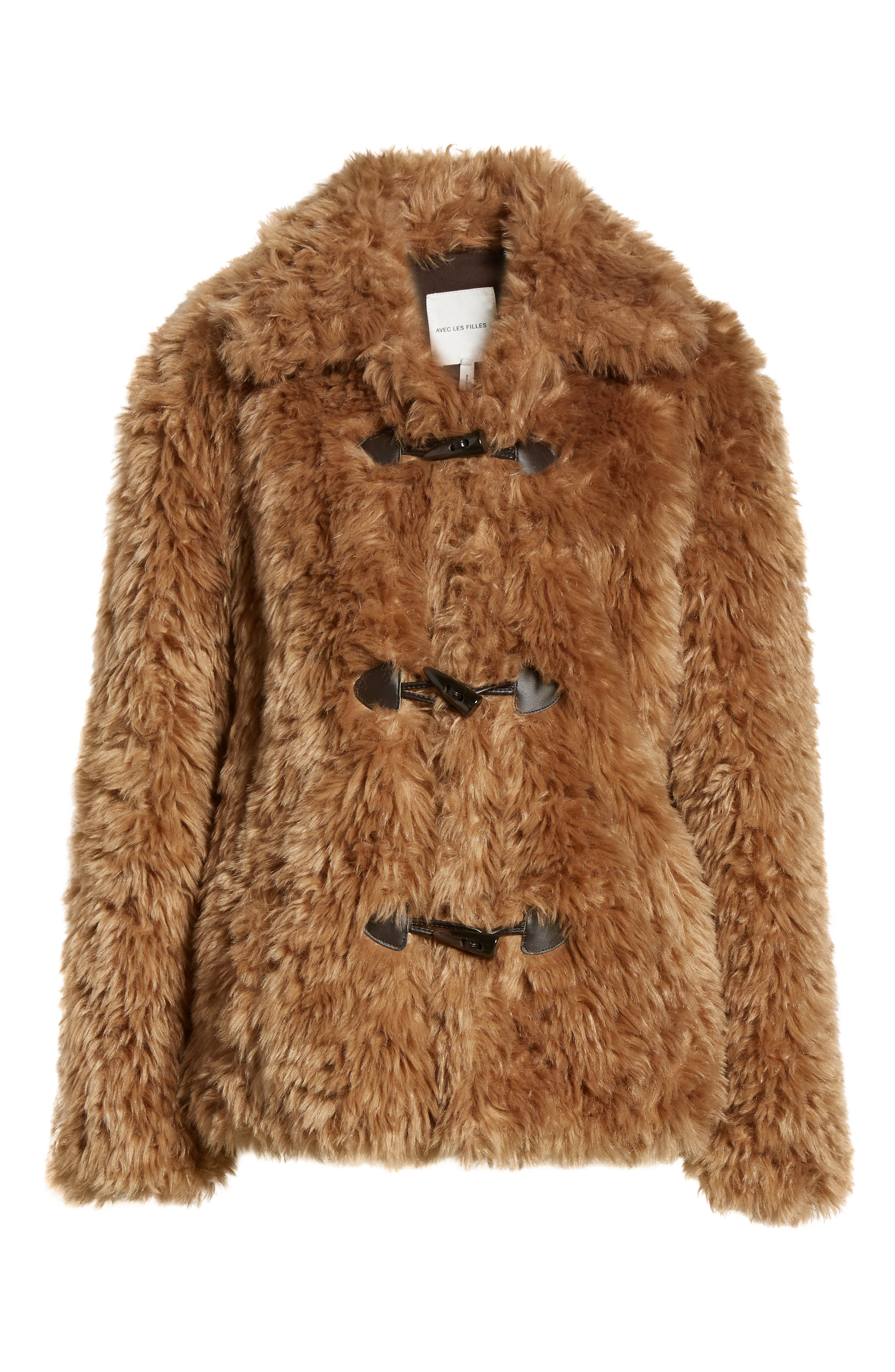 Faux Fur Teddy Coat,                             Alternate thumbnail 5, color,                             260