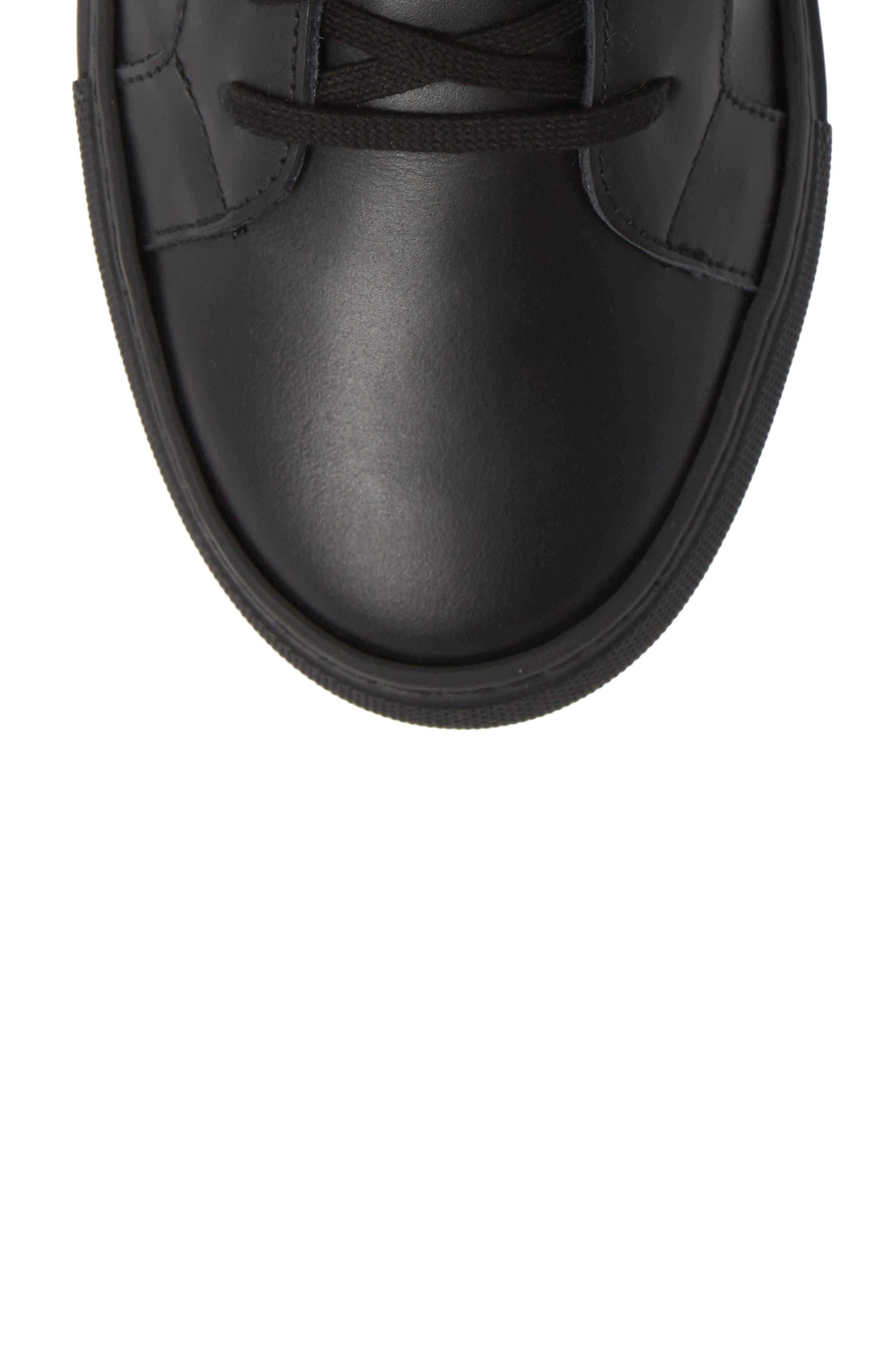 Rome High Top Sneaker,                             Alternate thumbnail 5, color,                             BLACK
