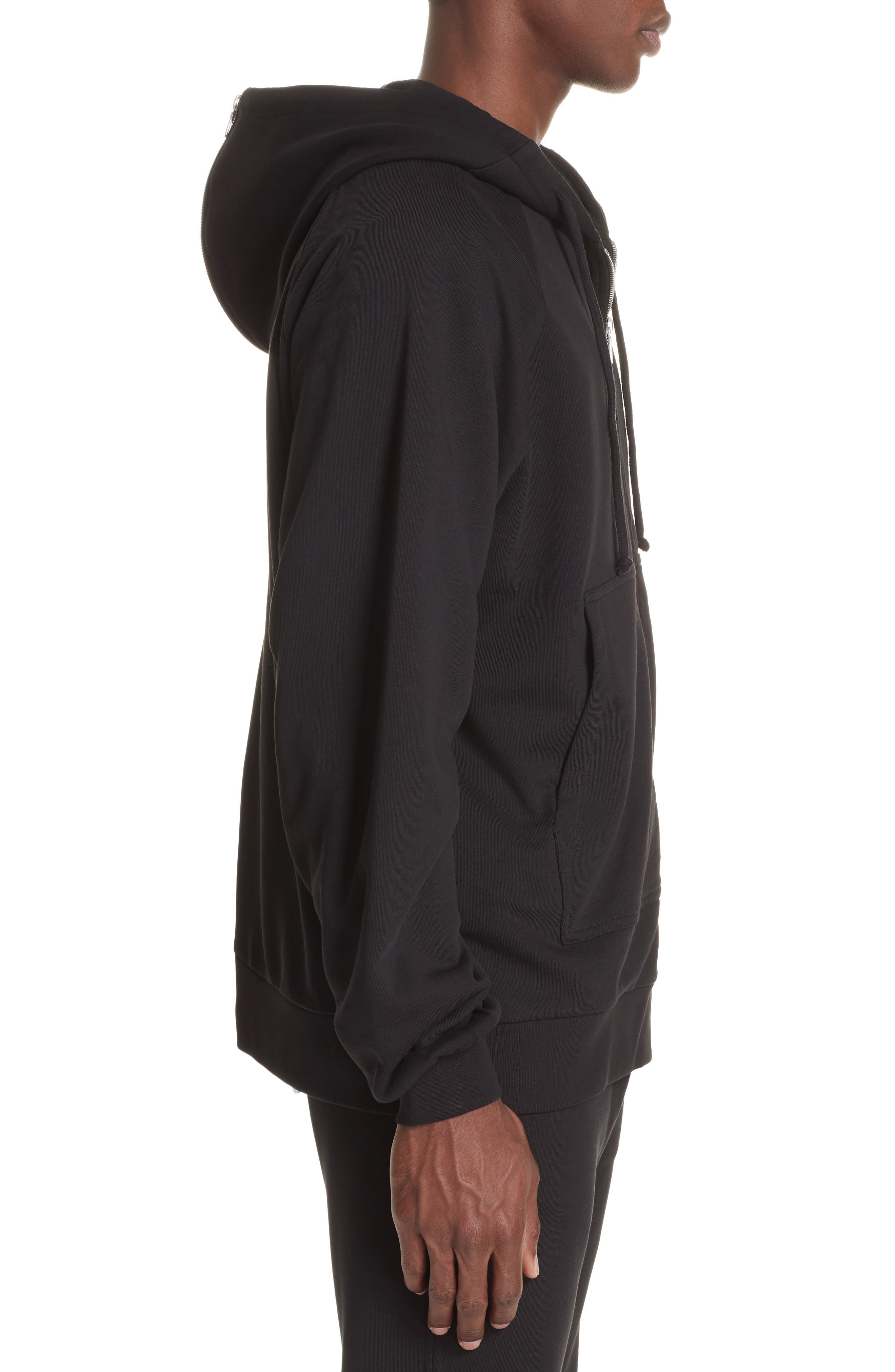 Oversize Hoodie,                             Alternate thumbnail 3, color,                             BLACK