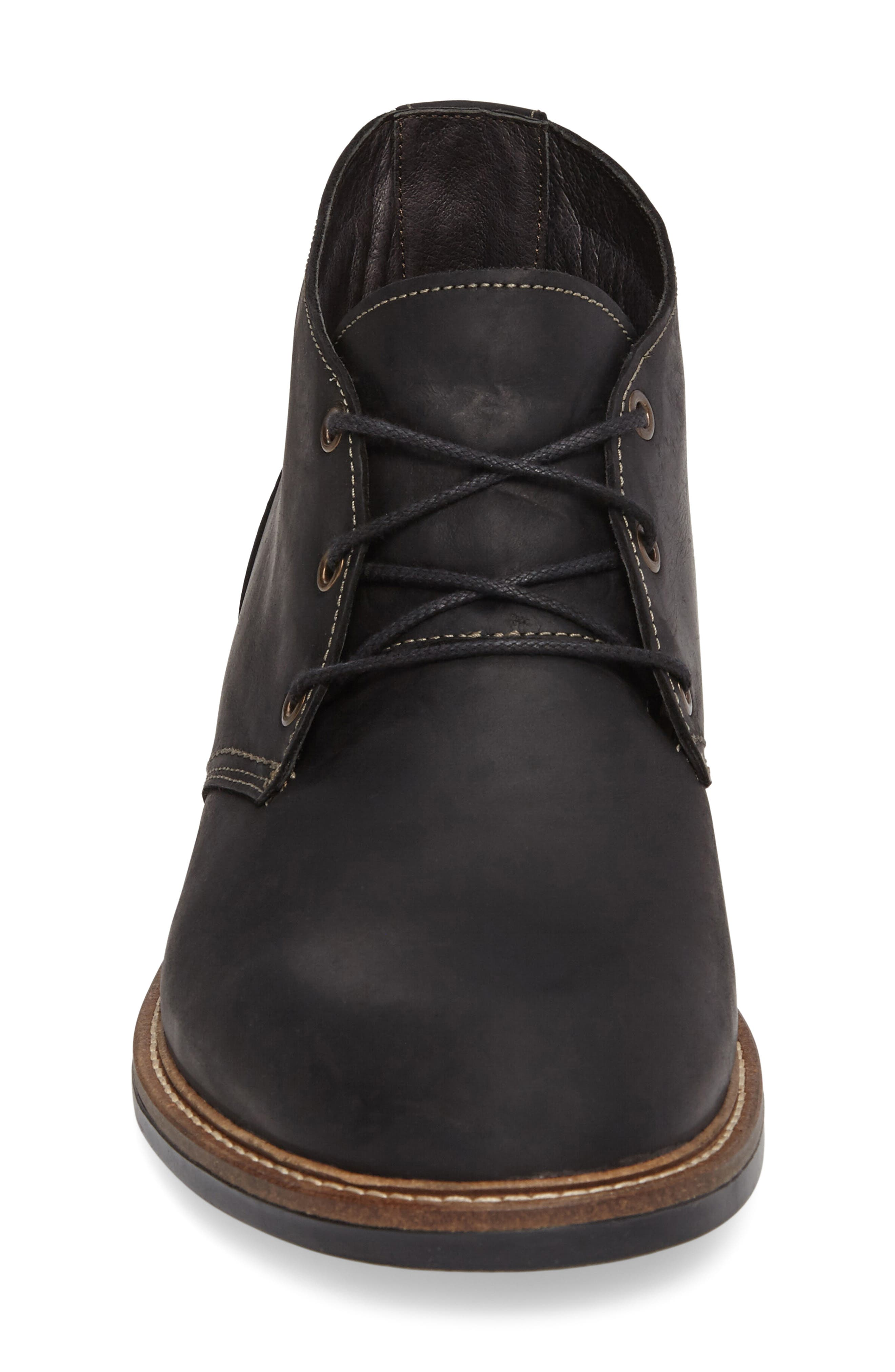 Pilot Chukka Boot,                             Alternate thumbnail 3, color,                             COAL NUBUCK LEATHER