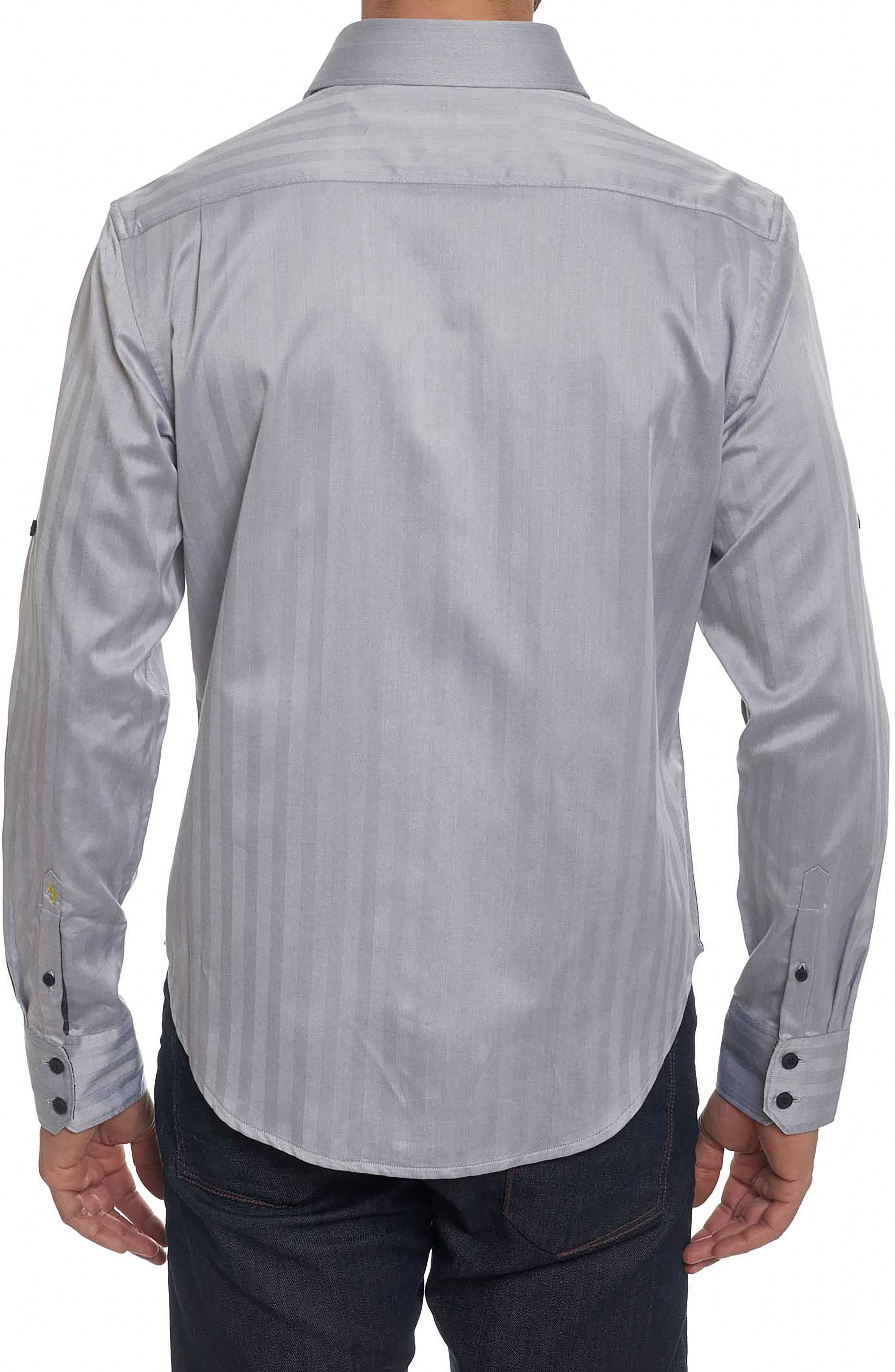 Canton Classic Fit Herringbone Sport Shirt,                             Alternate thumbnail 2, color,                             001