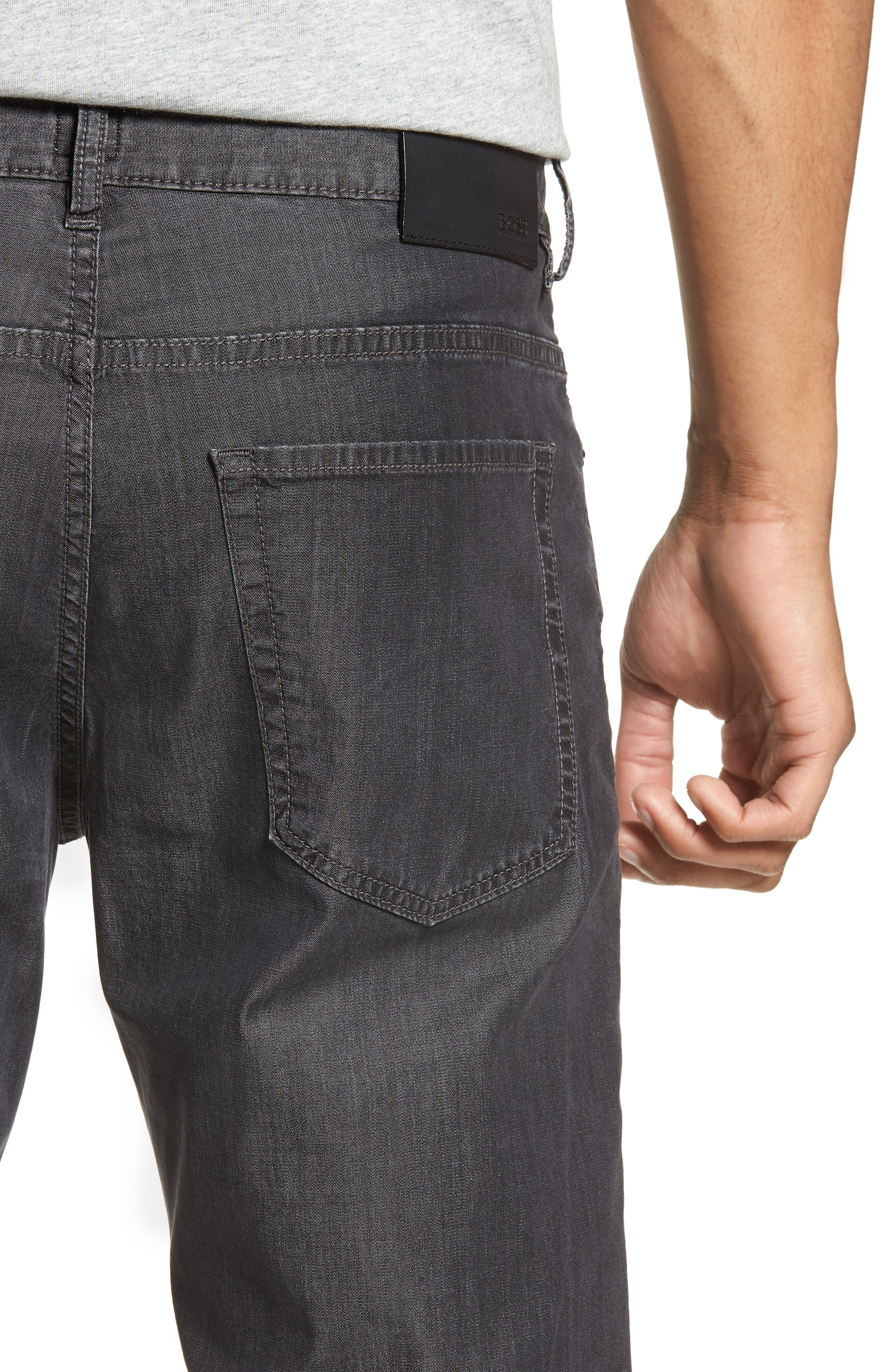 BOSS,                             Delaware Slim Fit Jeans,                             Alternate thumbnail 4, color,                             020