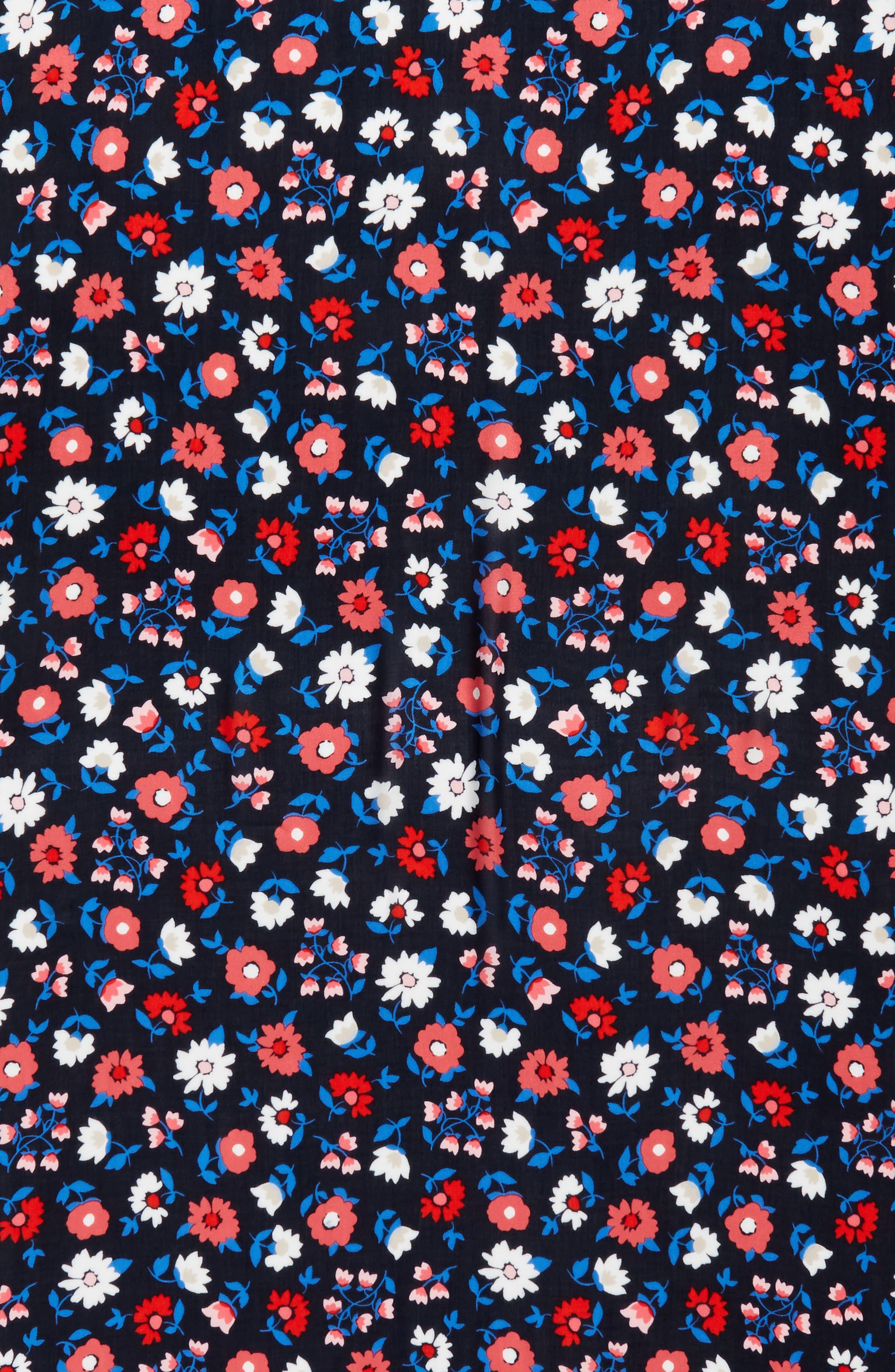 daisy scarf,                             Alternate thumbnail 4, color,                             RICH NAVY