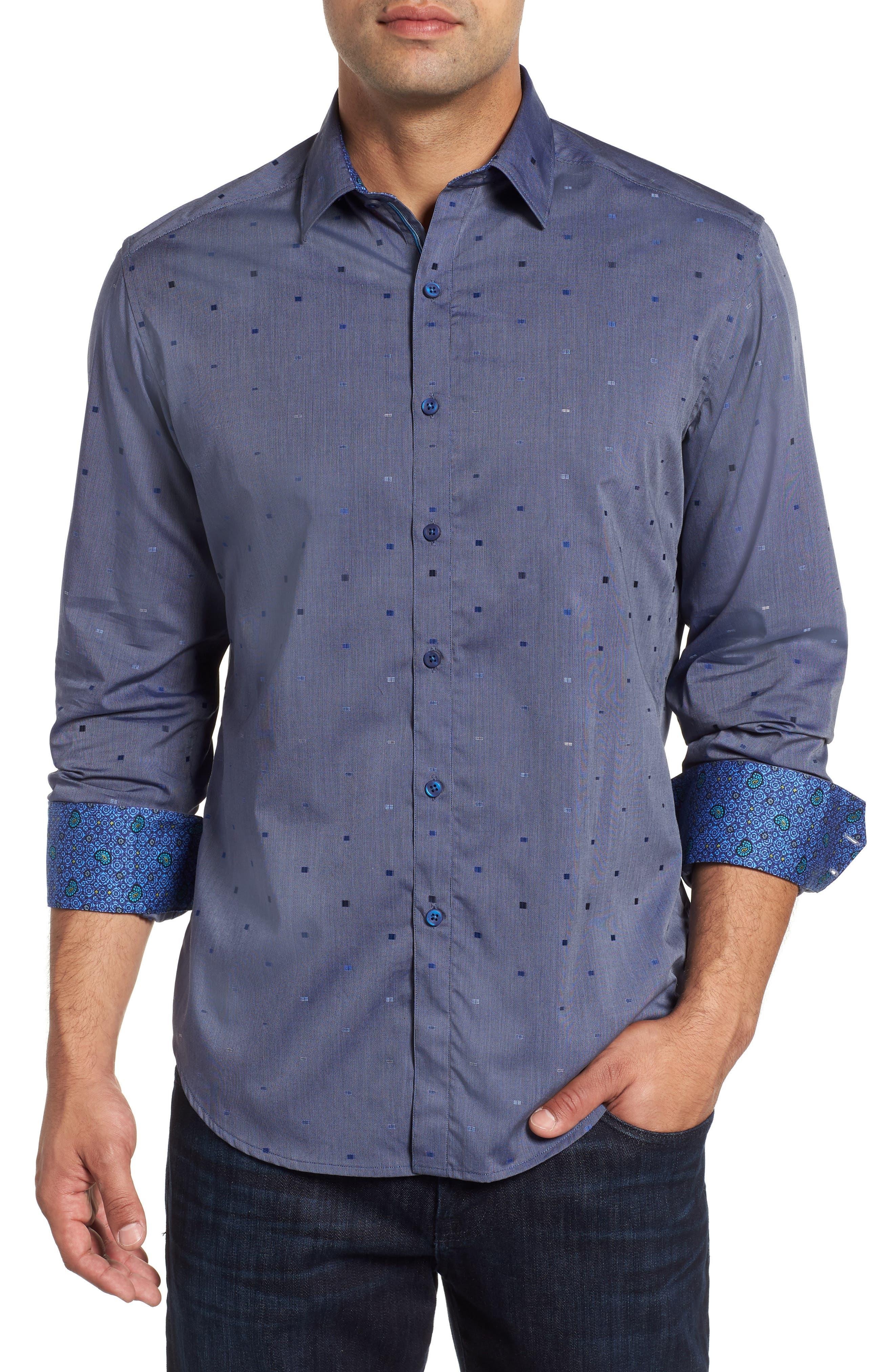 Kerr Classic Fit Sport Shirt,                         Main,                         color, NAVY